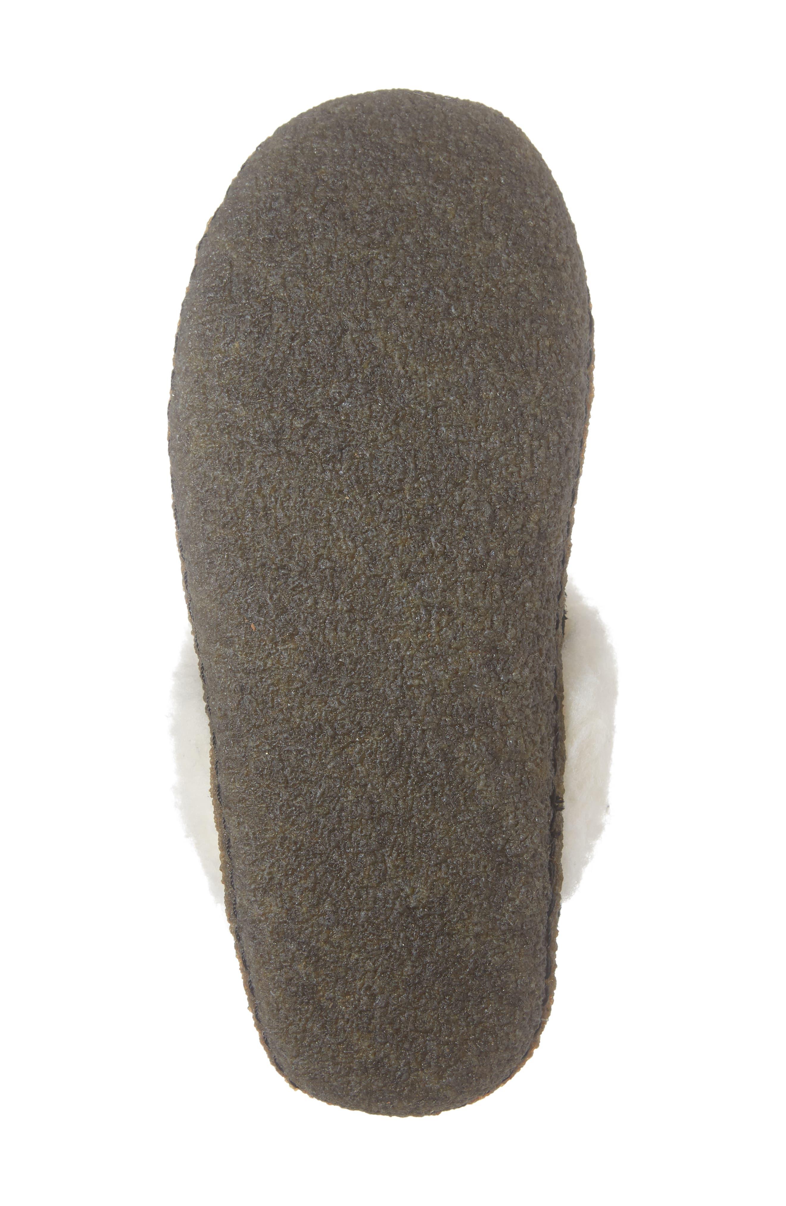 Nakiska II Faux Shearling Lined Slipper,                             Alternate thumbnail 6, color,                             BLACK/ NATURAL