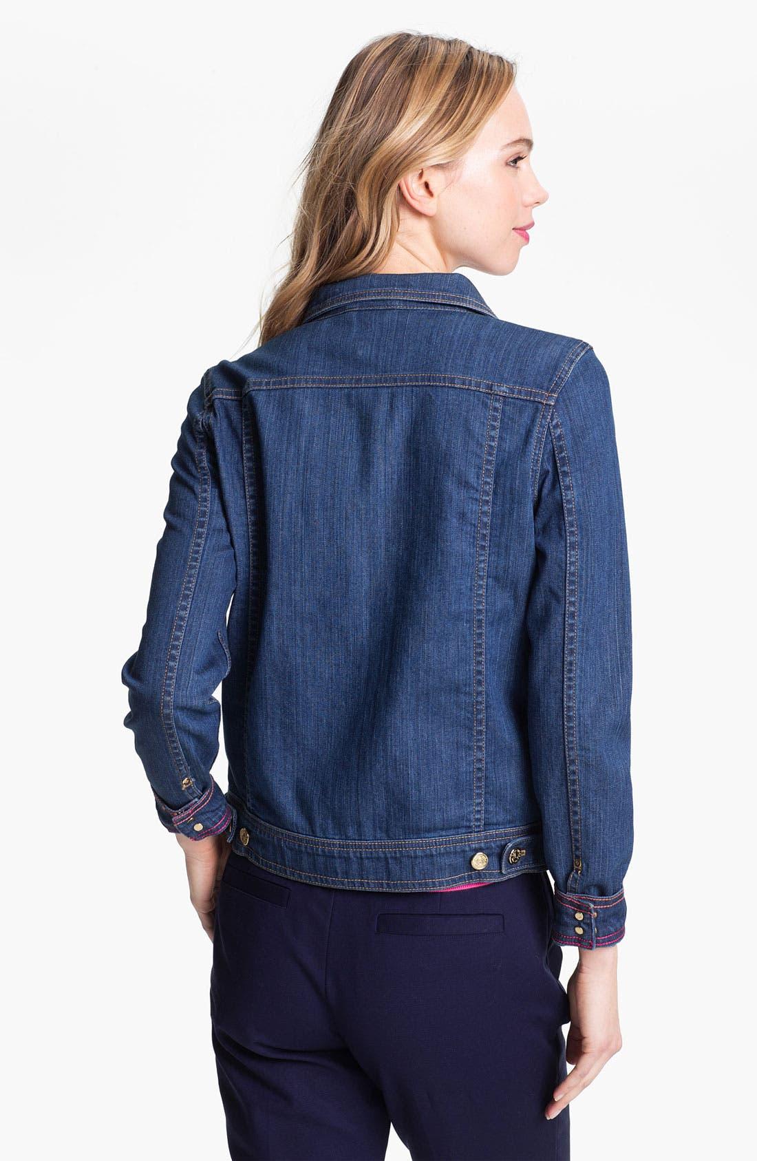 'broome street' denim jacket,                             Alternate thumbnail 3, color,                             489