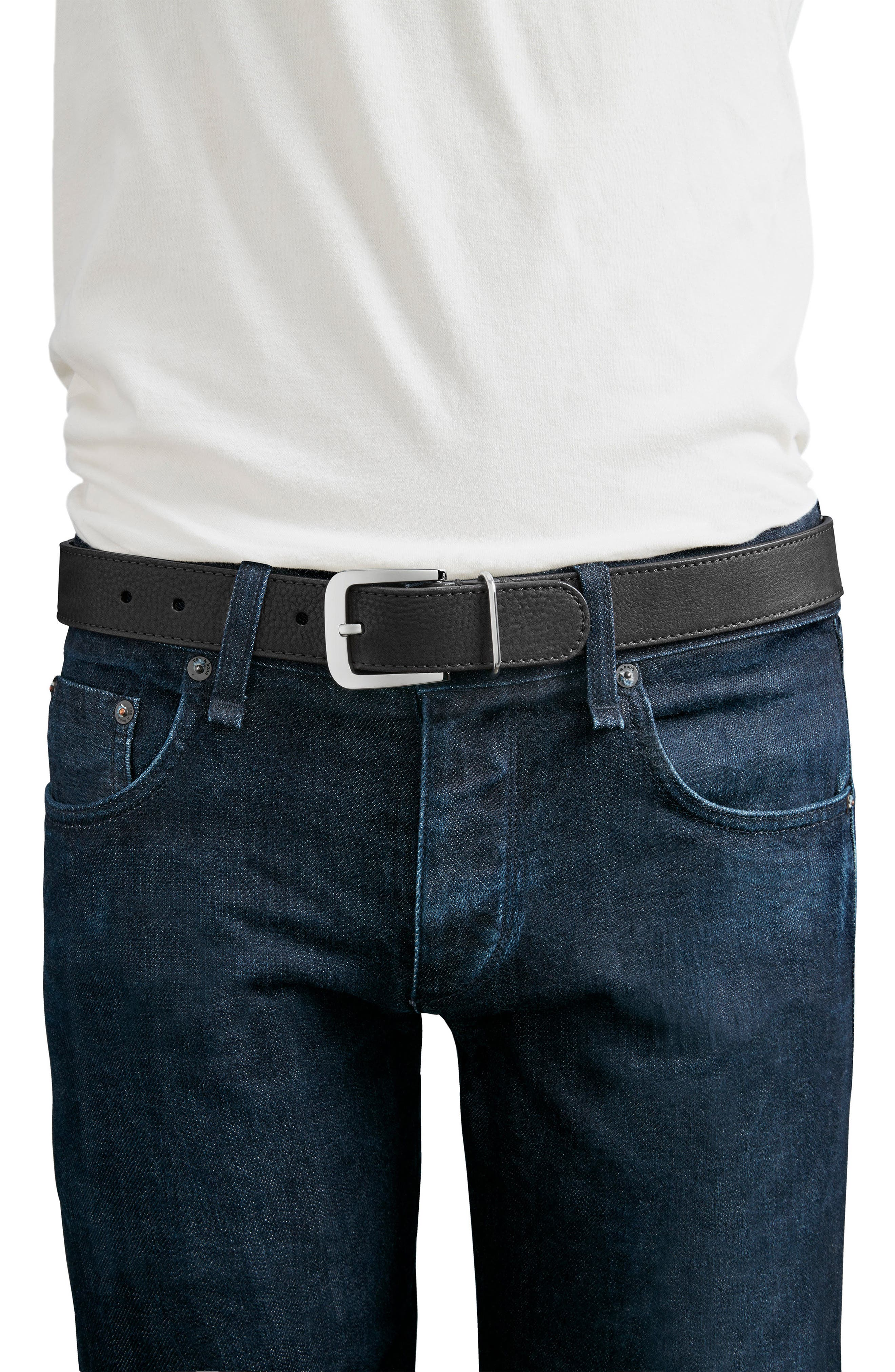 G10 Leather Belt,                             Alternate thumbnail 4, color,                             001
