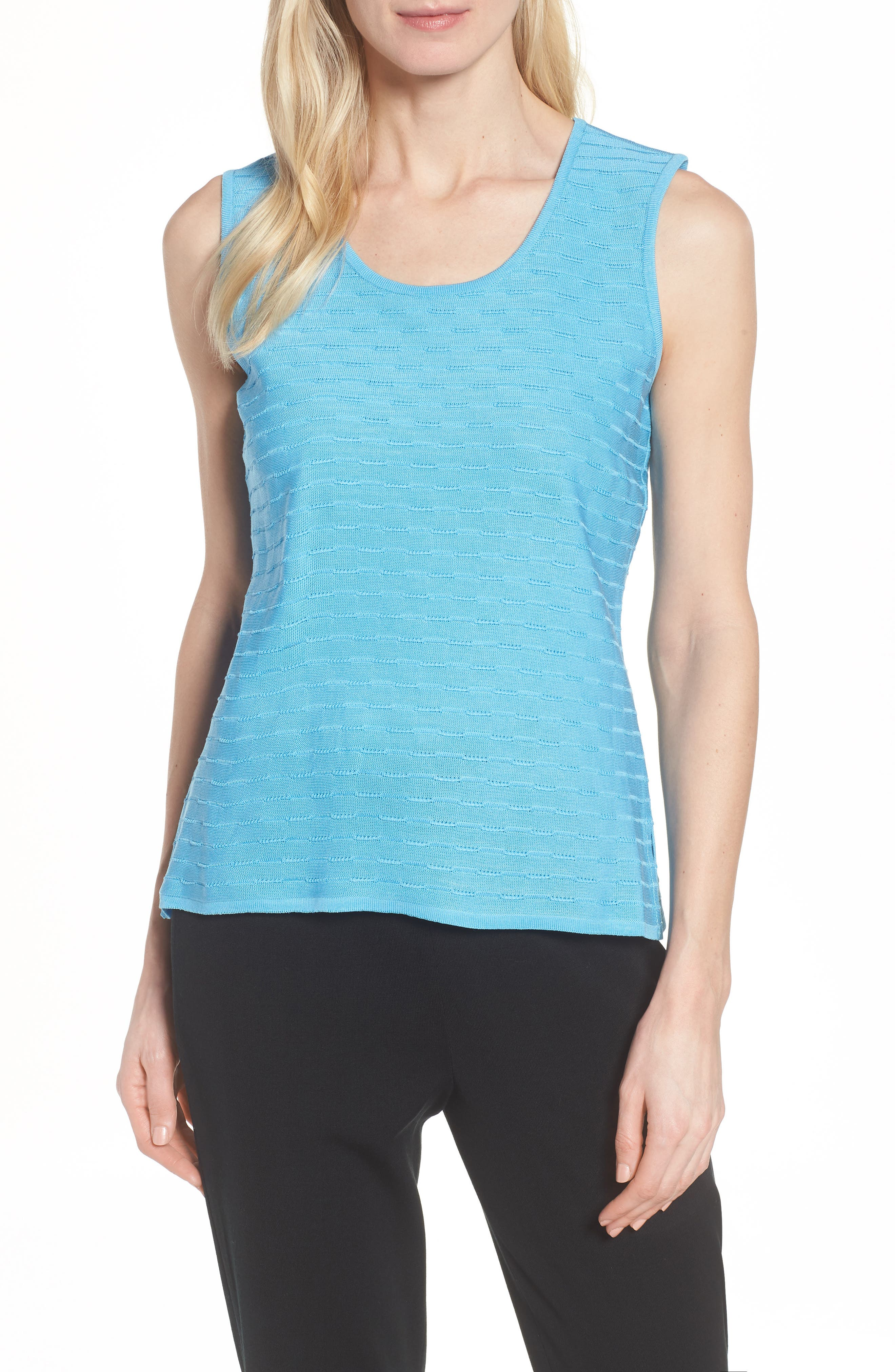 Textured Tank,                             Main thumbnail 1, color,                             BLUEBONNET