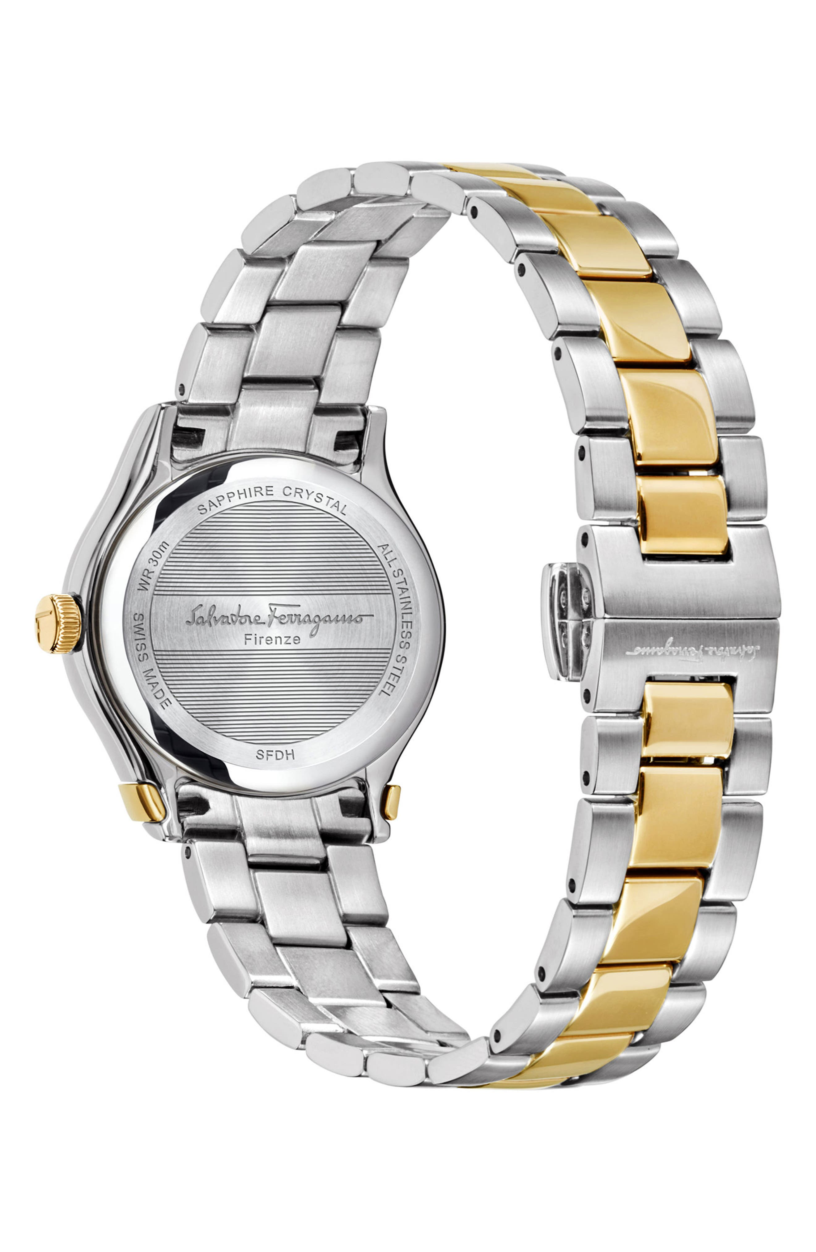 1898 Bracelet Watch, 28mm,                             Alternate thumbnail 2, color,                             SILVER/ BROWN/ GOLD