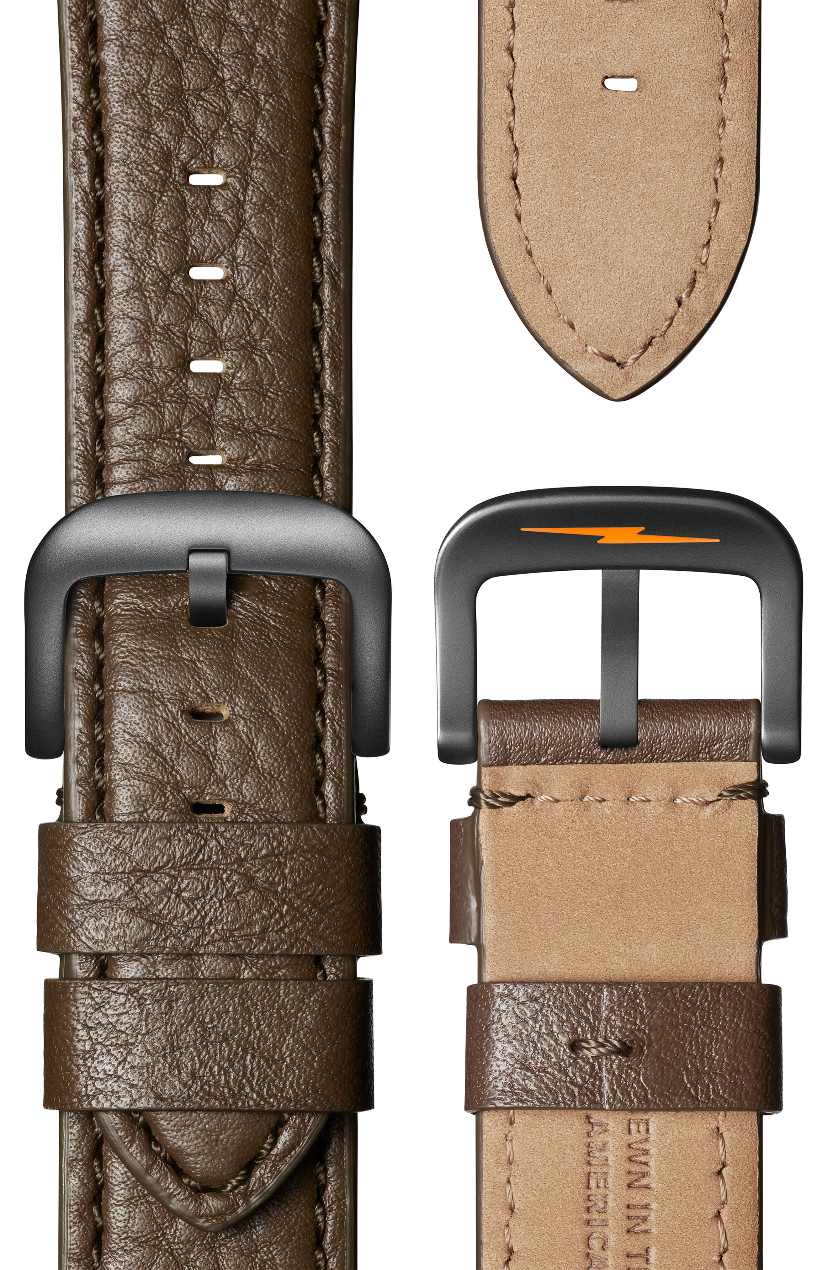 The Runwell Chrono Leather Strap Watch, 47mm,                             Alternate thumbnail 48, color,