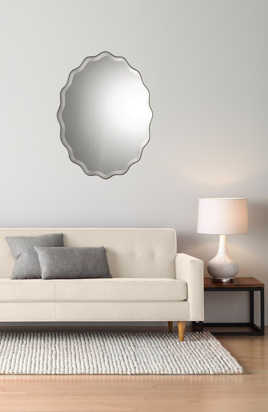 'Teodora' Ruffle Edge Mirror,                             Alternate thumbnail 2, color,                             100