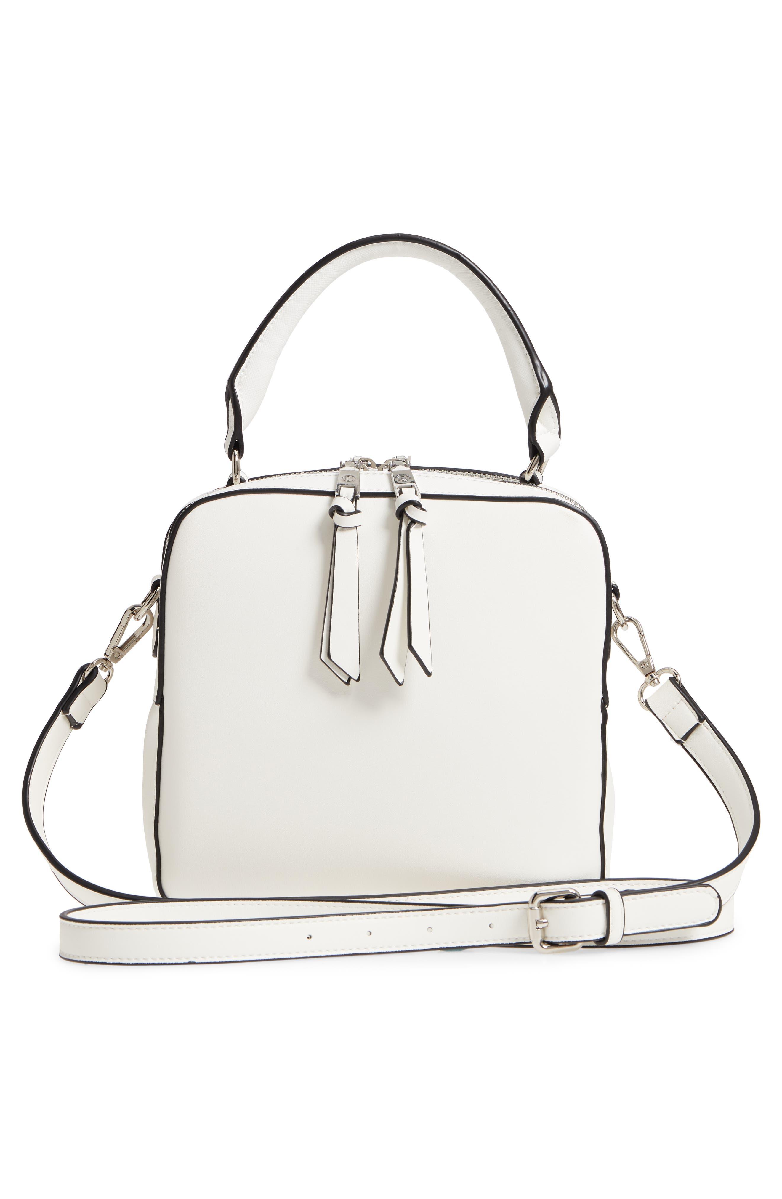 Céline Dion Motif Top Handle Leather Satchel,                             Alternate thumbnail 9, color,