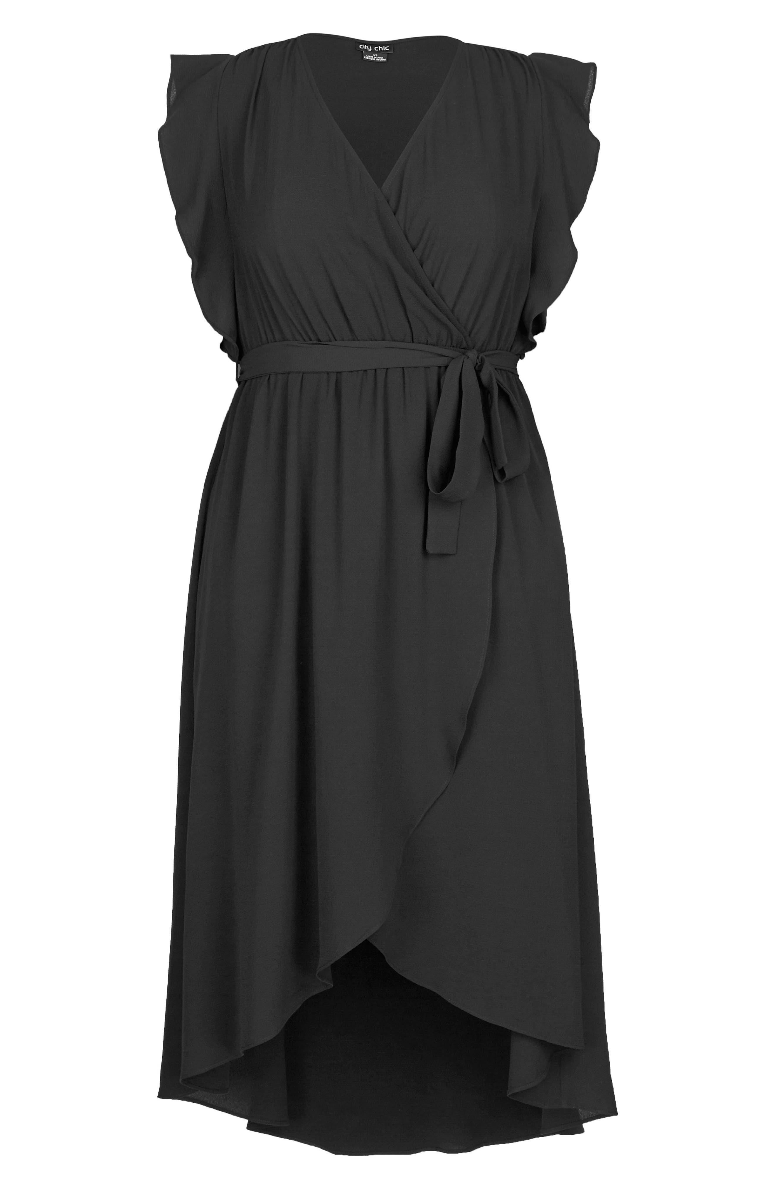 Lolita High/Low Maxi Dress,                             Alternate thumbnail 3, color,                             BLACK