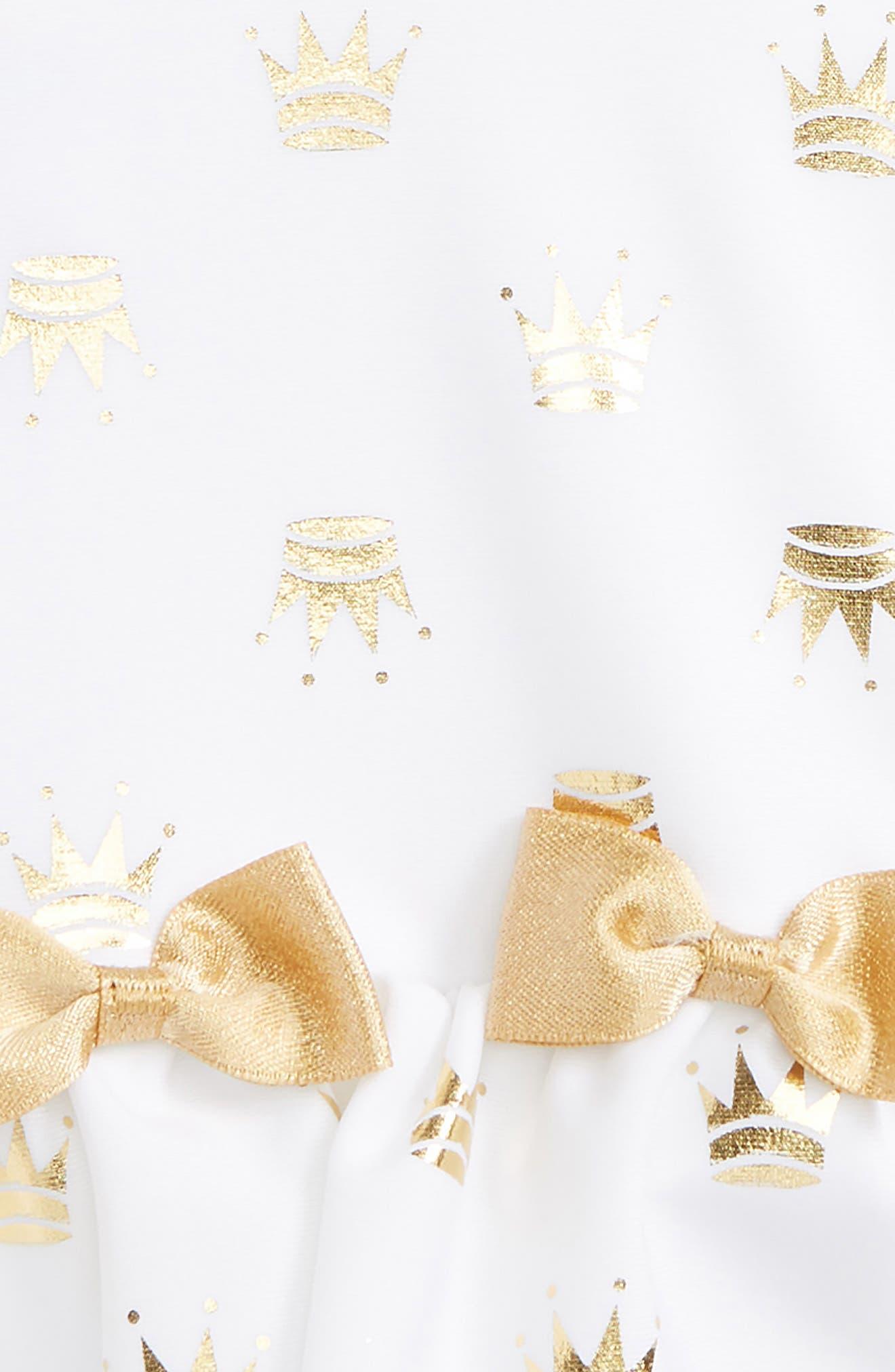 Gold Princess One-Piece Swimsuit,                             Alternate thumbnail 2, color,