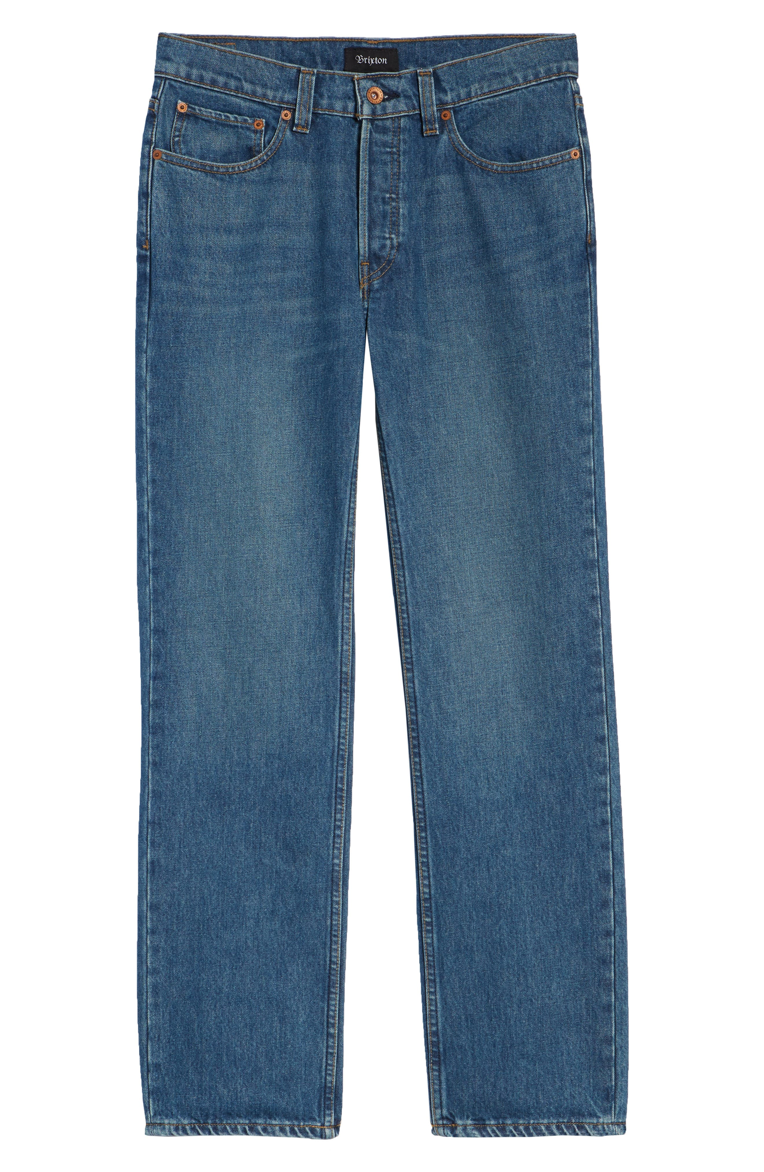 Labor Straight Leg Jeans,                             Alternate thumbnail 6, color,                             400
