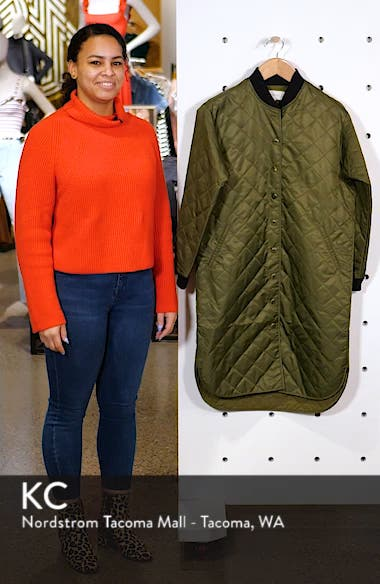 Quilted Long Coat, sales video thumbnail