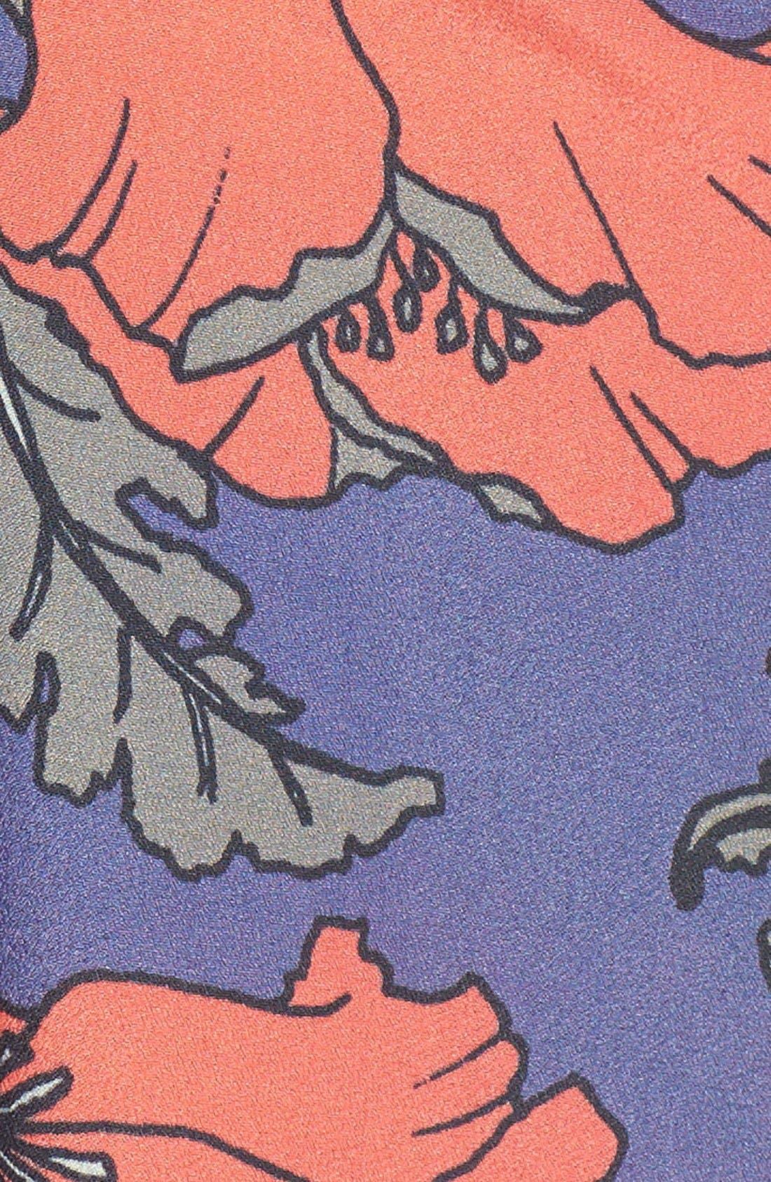 'Desi' Floral Print Maxi Dress,                             Alternate thumbnail 4, color,                             400