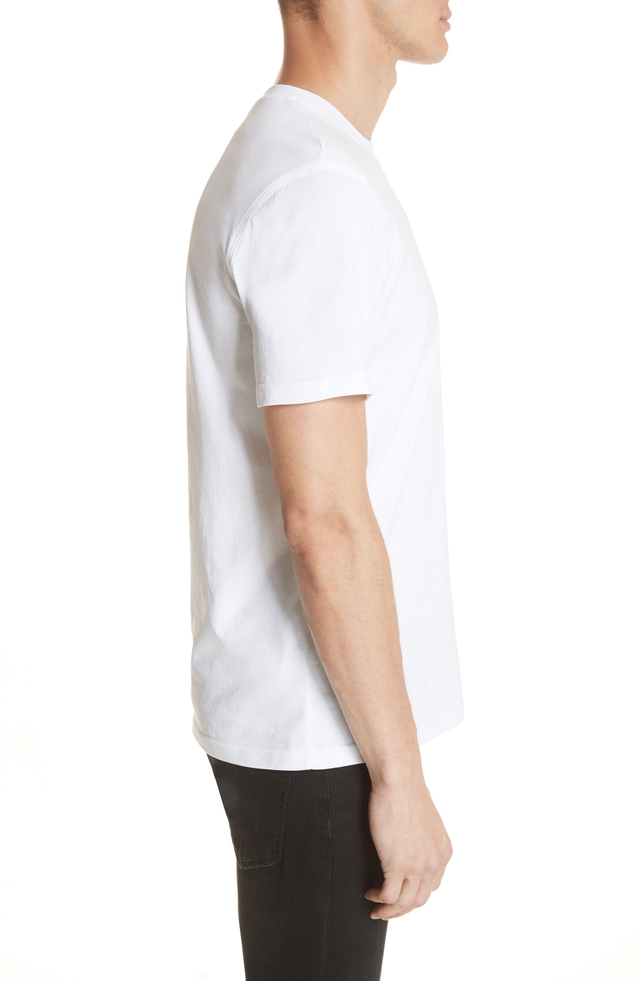 Sequin Logo T-Shirt,                             Alternate thumbnail 3, color,                             100