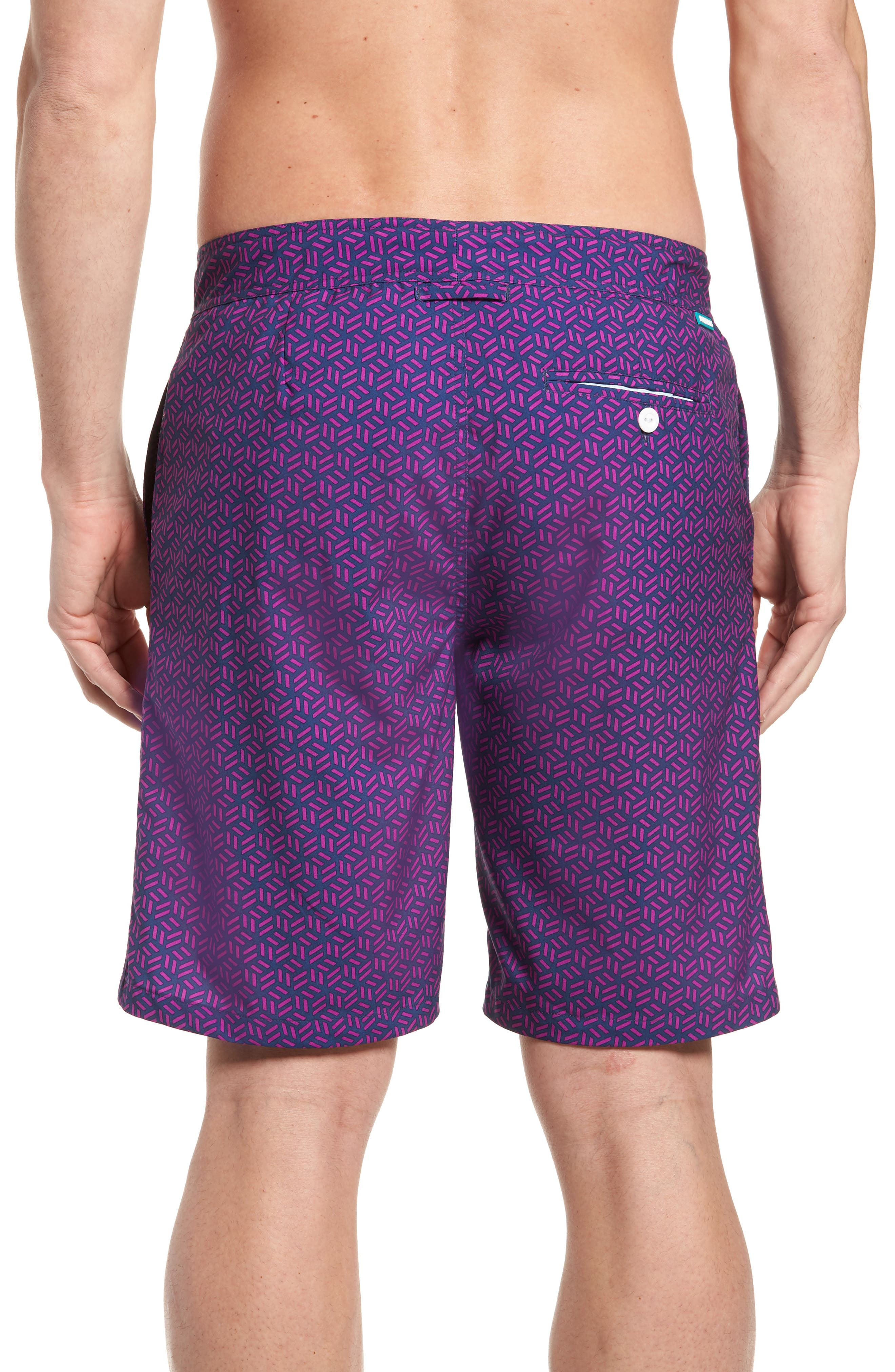 Geo Print 9-Inch Swim Trunks,                             Alternate thumbnail 2, color,                             400