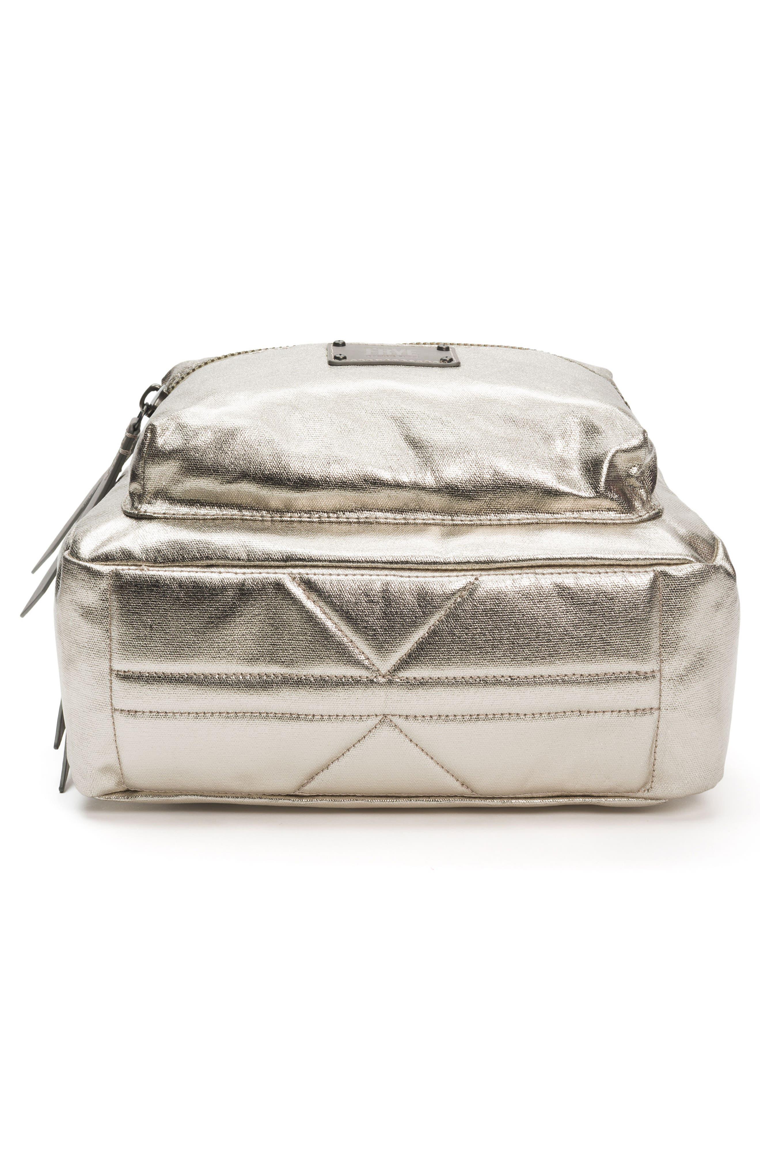 Ivy Metallic Nylon Backpack,                             Alternate thumbnail 6, color,                             020