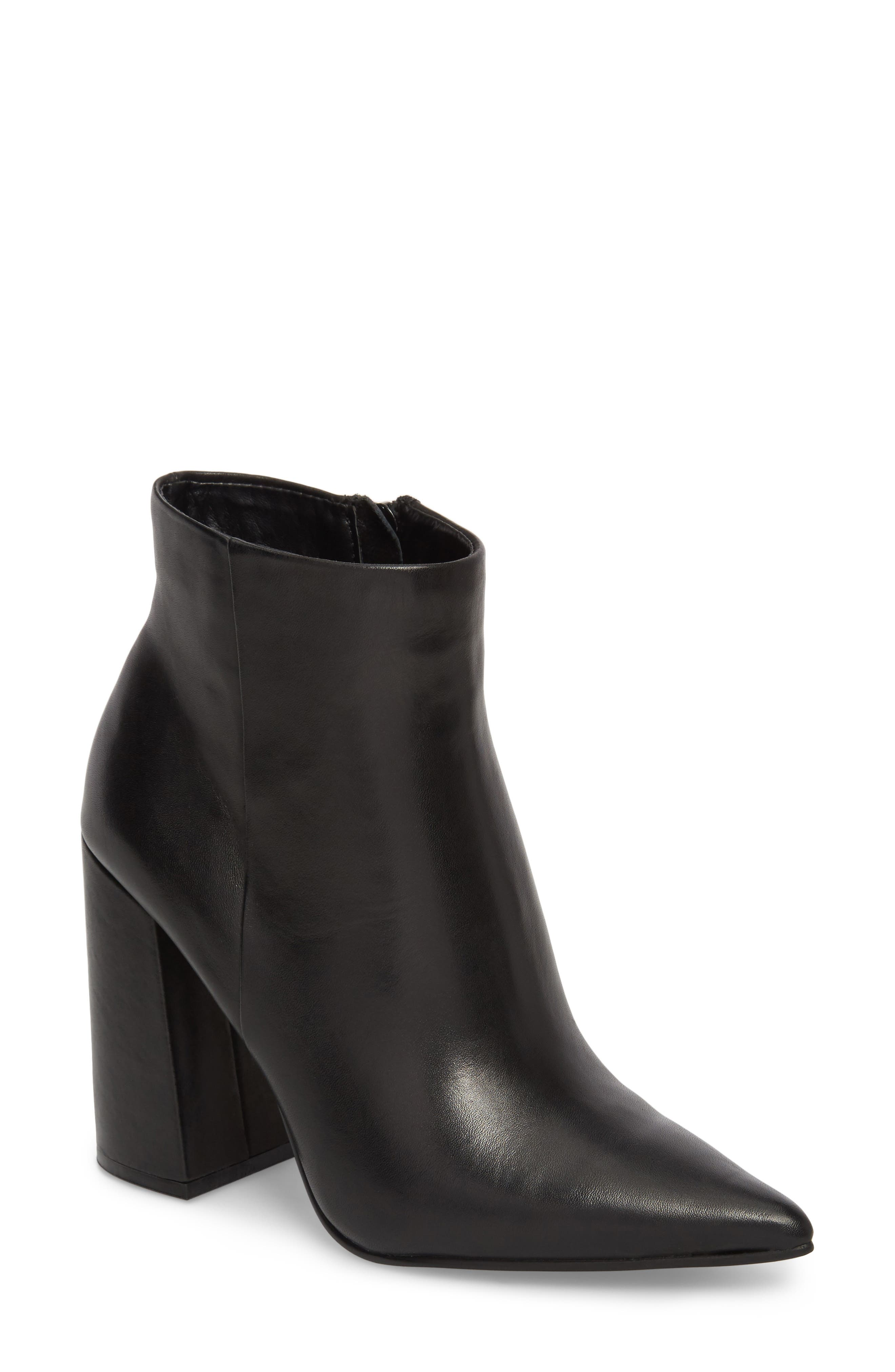 Justify Flared Heel Bootie,                             Main thumbnail 1, color,                             001