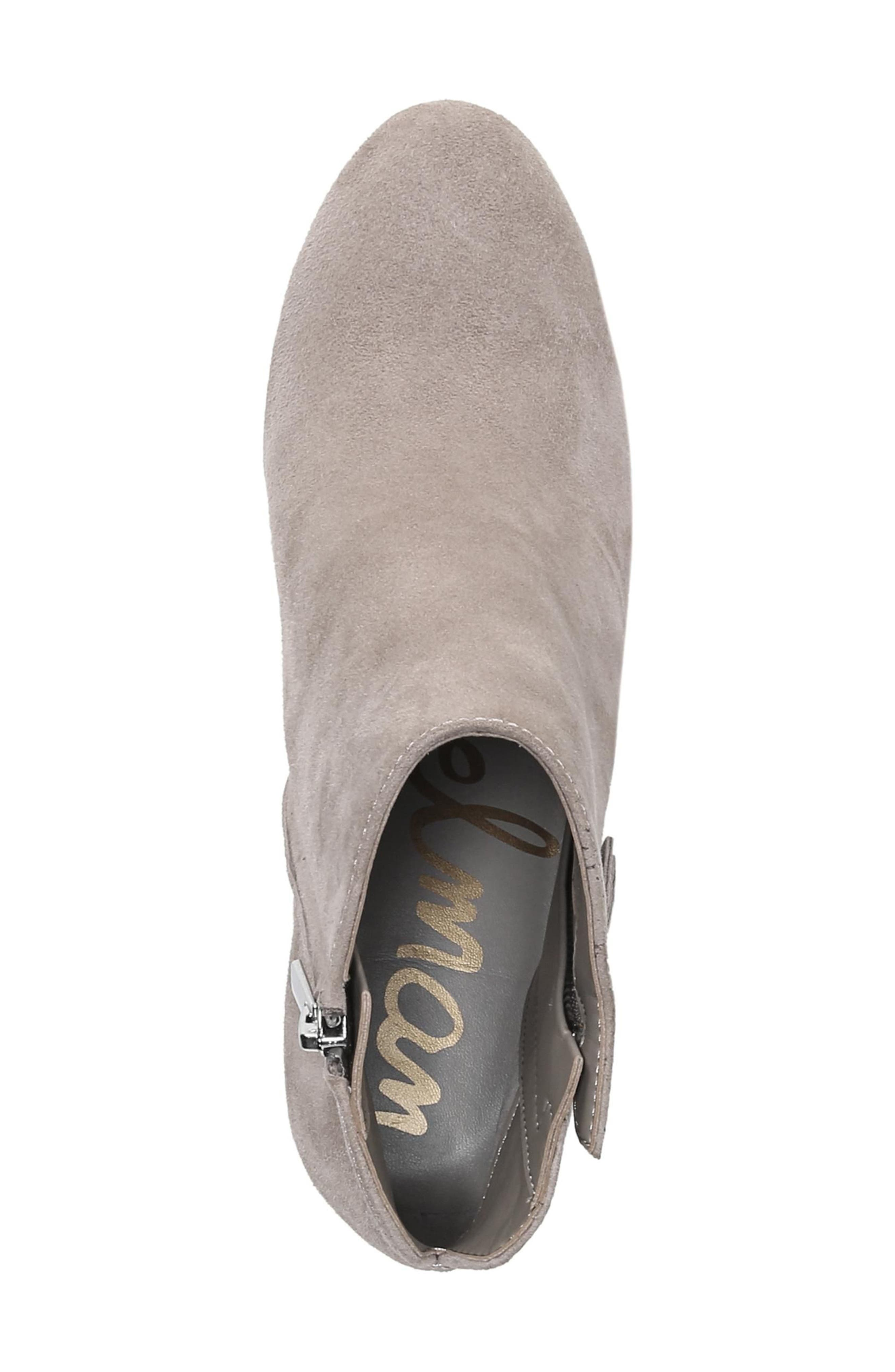 Sadee Angle Zip Bootie,                             Alternate thumbnail 5, color,                             NEW PUTTY SUEDE