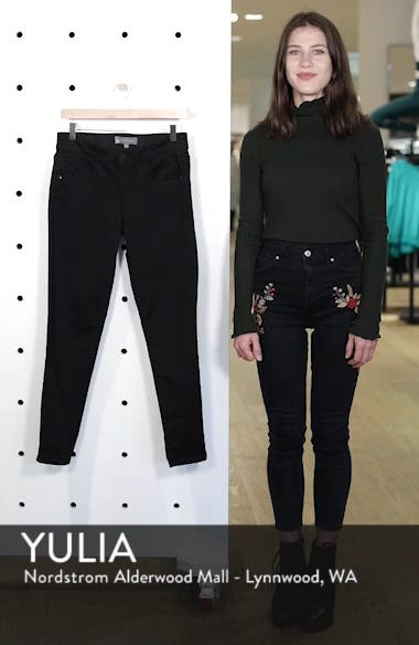 Ab-solution Stretch Ankle Skinny Jeans, sales video thumbnail