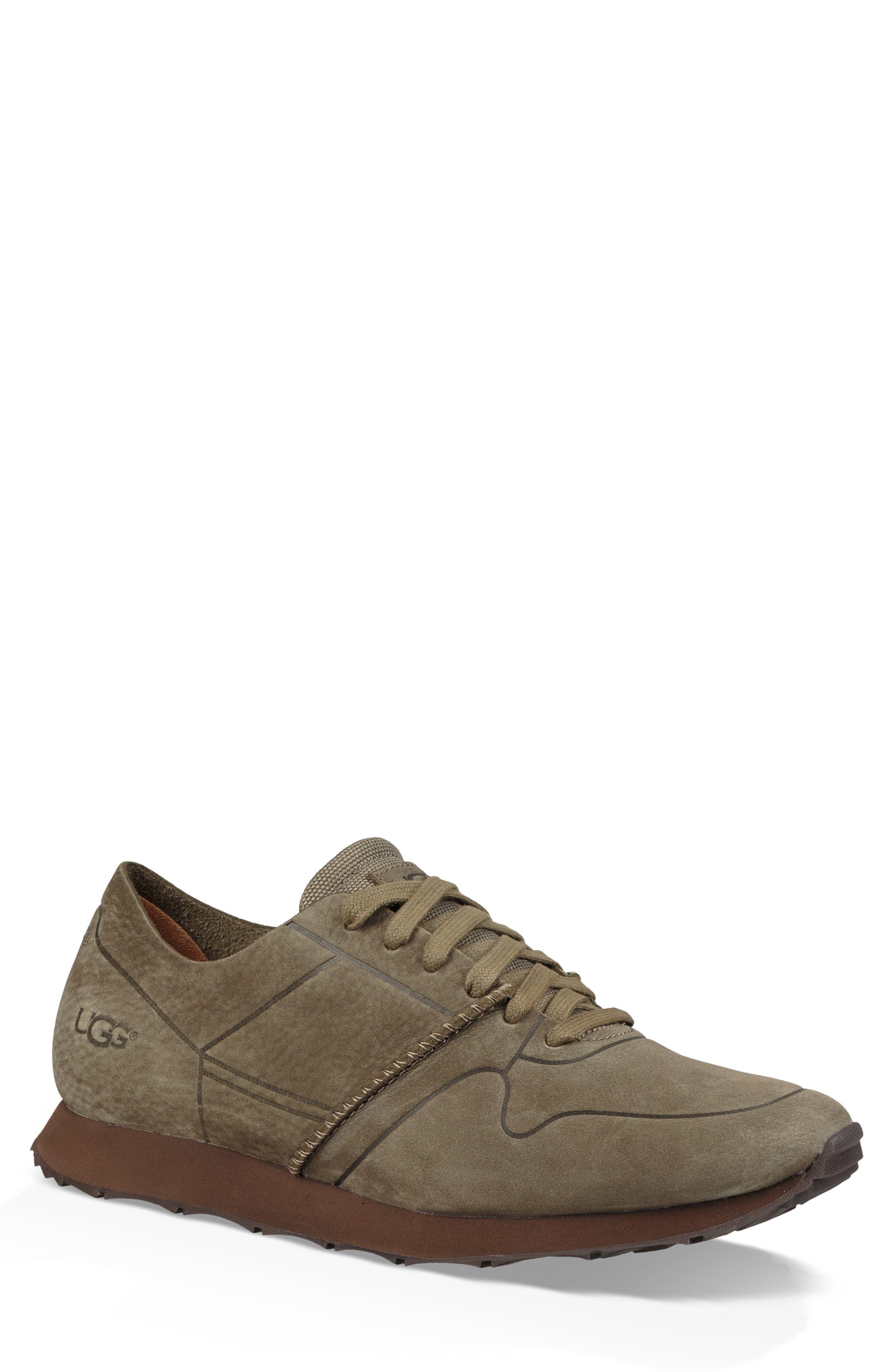 Trigo Unlined Sneaker,                         Main,                         color, MOSS GREEN