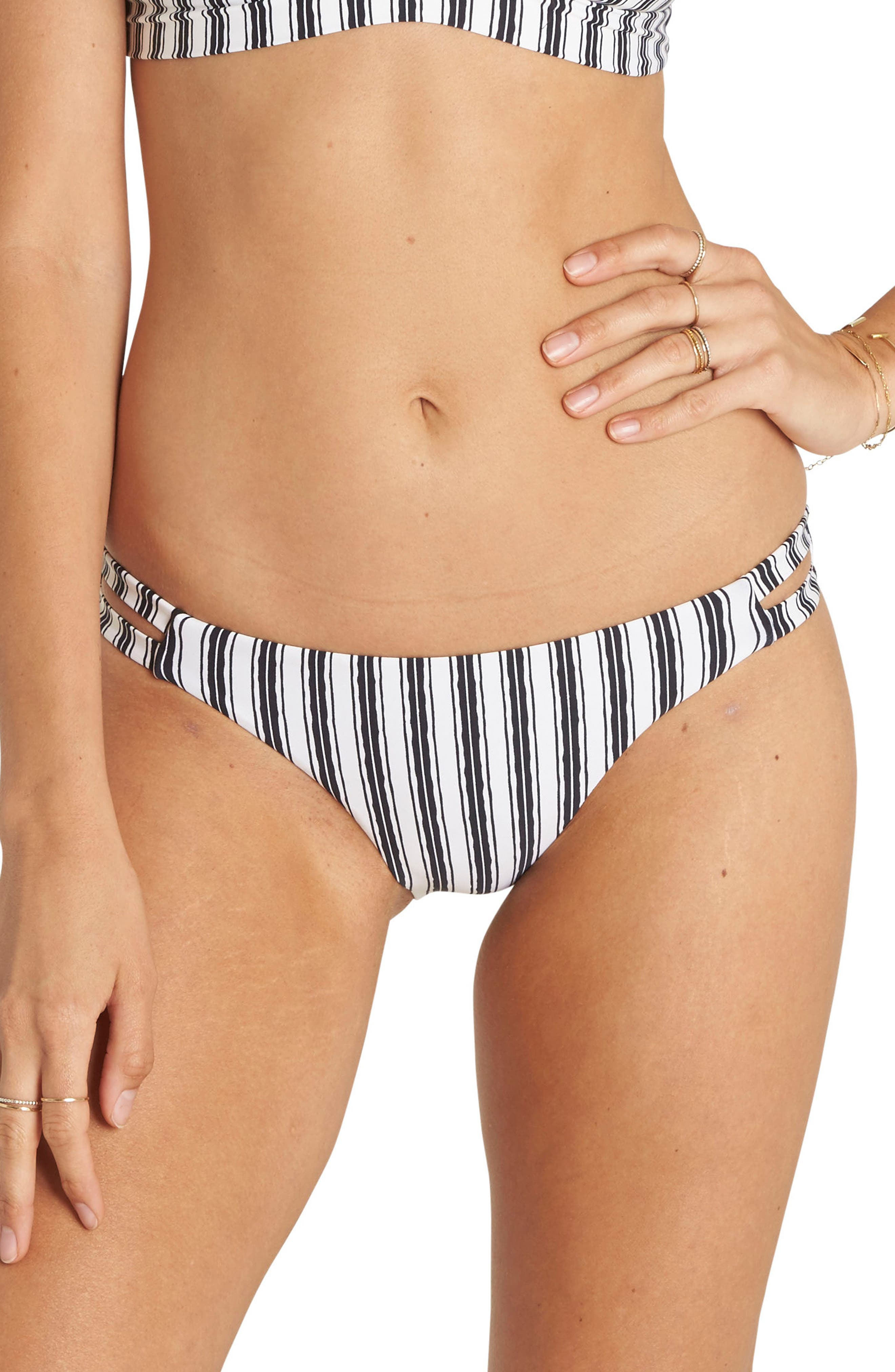 Get in Line Lowrider Bikini Bottoms,                             Main thumbnail 1, color,                             001