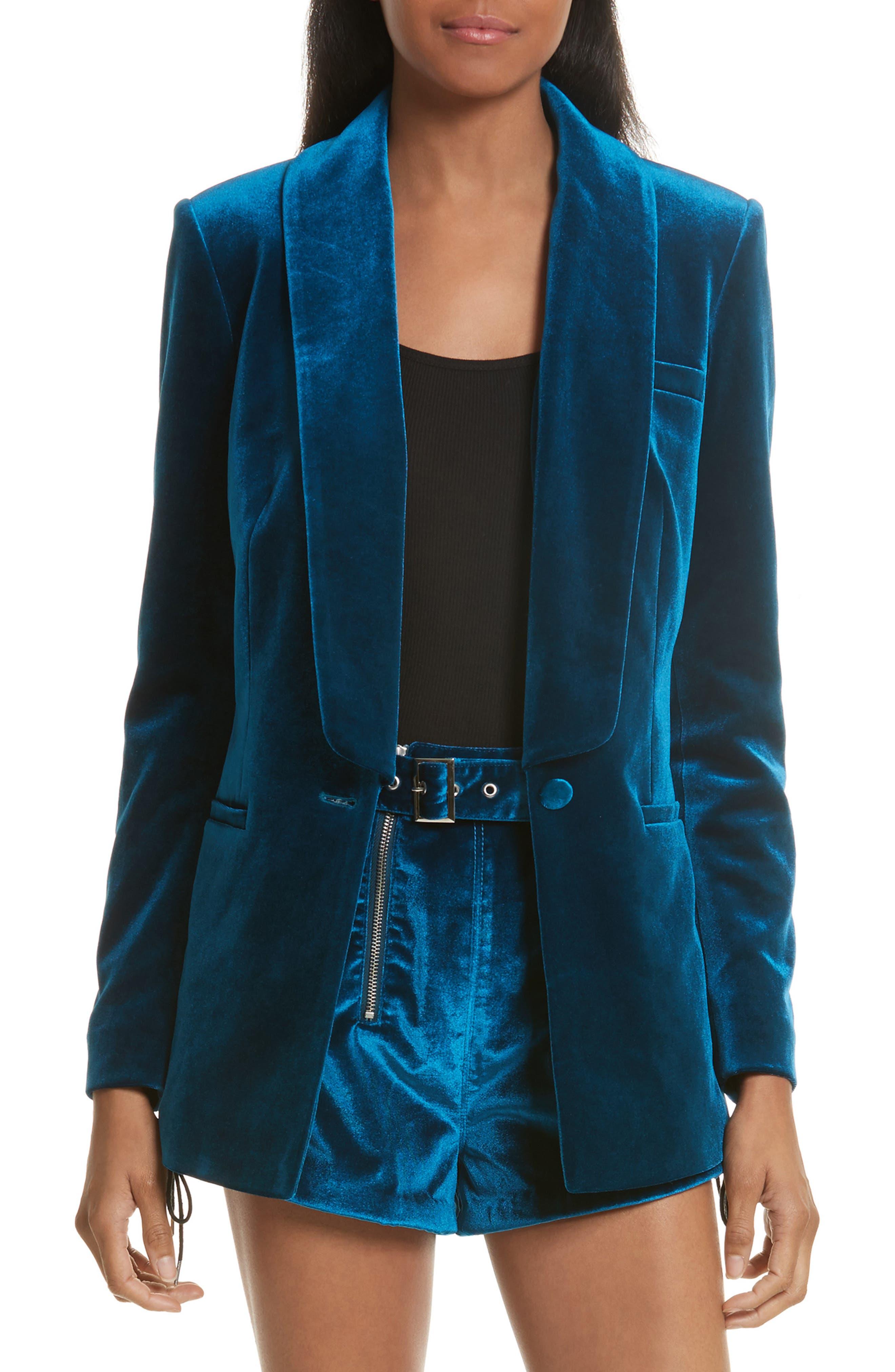 Velvet Blazer,                         Main,                         color, 400