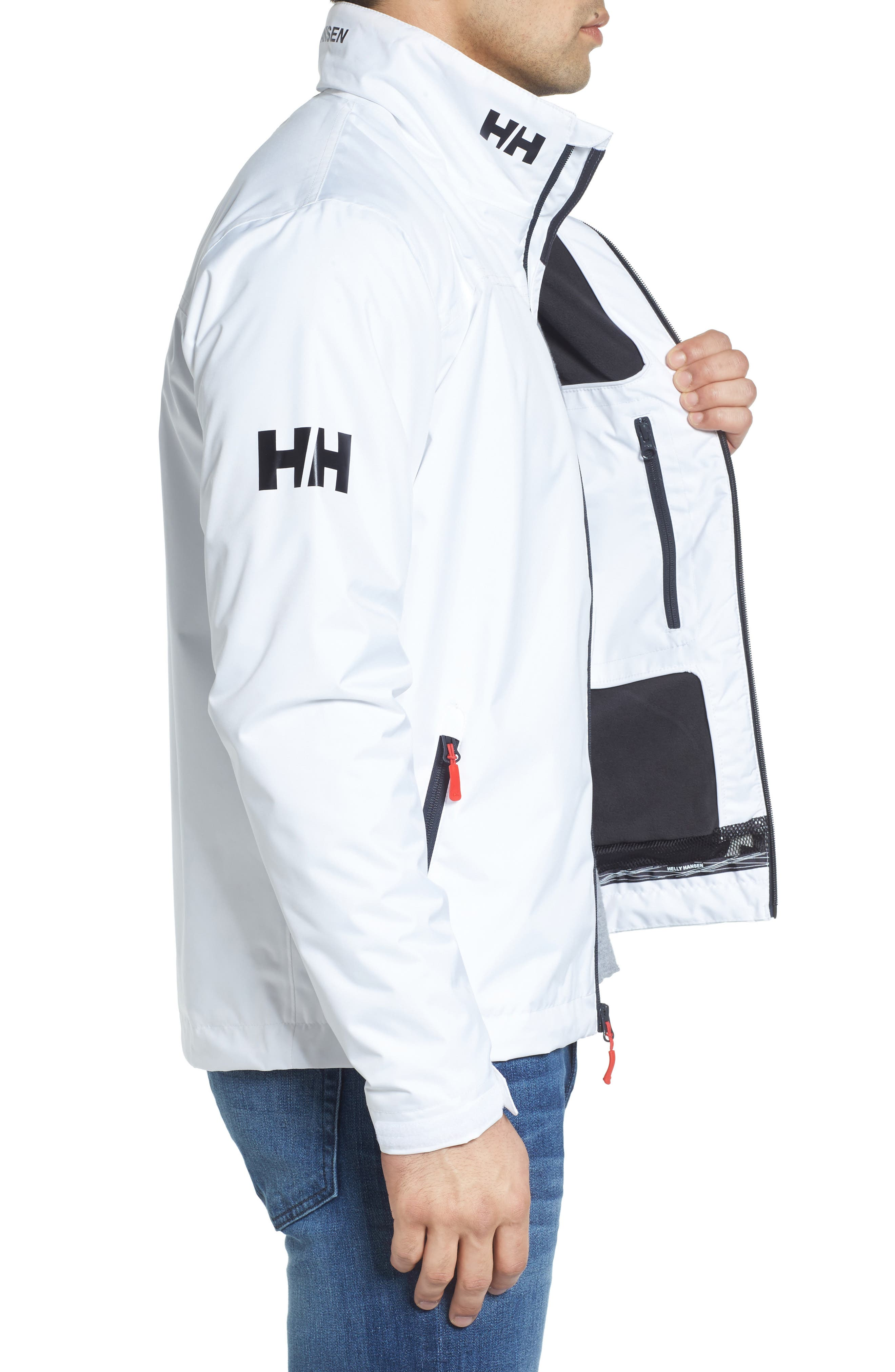 'Crew' Waterproof & Windproof Jacket,                             Alternate thumbnail 3, color,                             BRIGHT WHITE