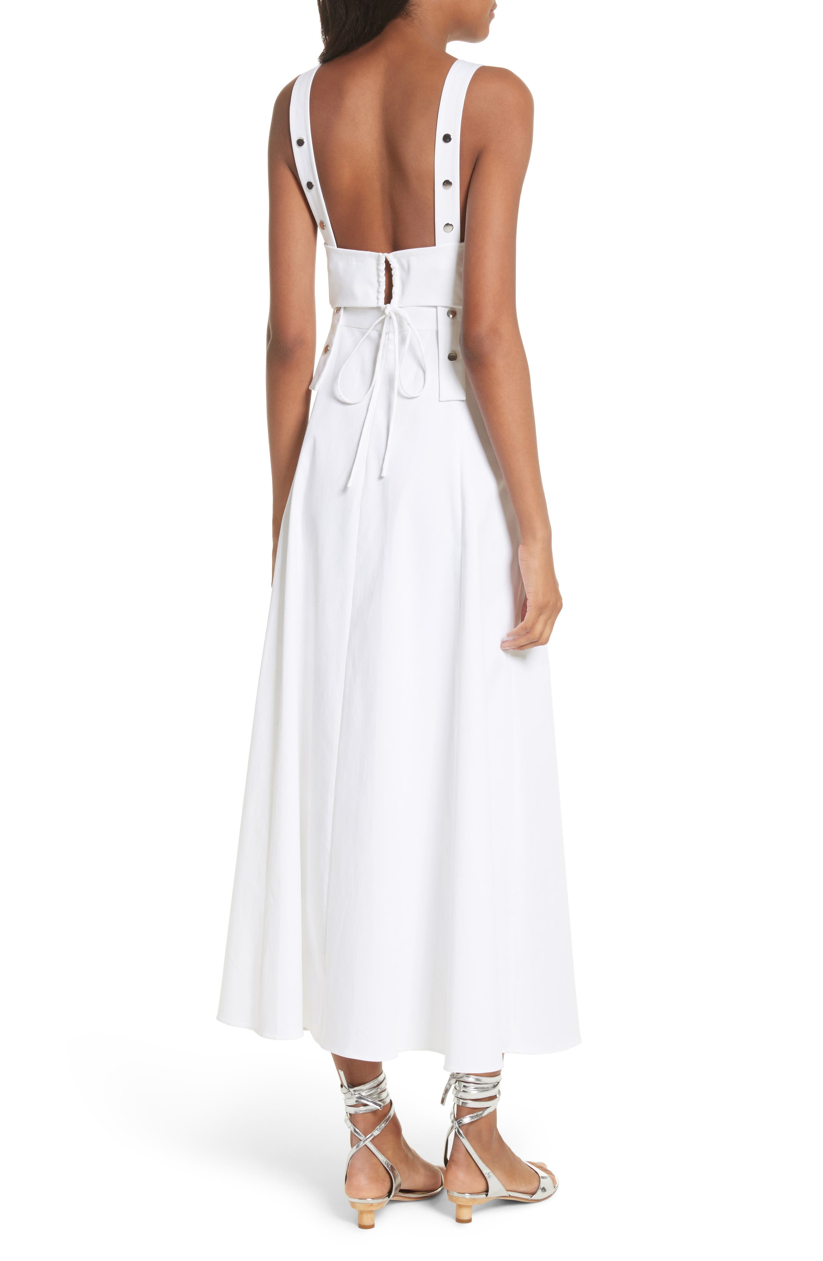 Crosby Snap Strappy Dress,                             Alternate thumbnail 2, color,                             100