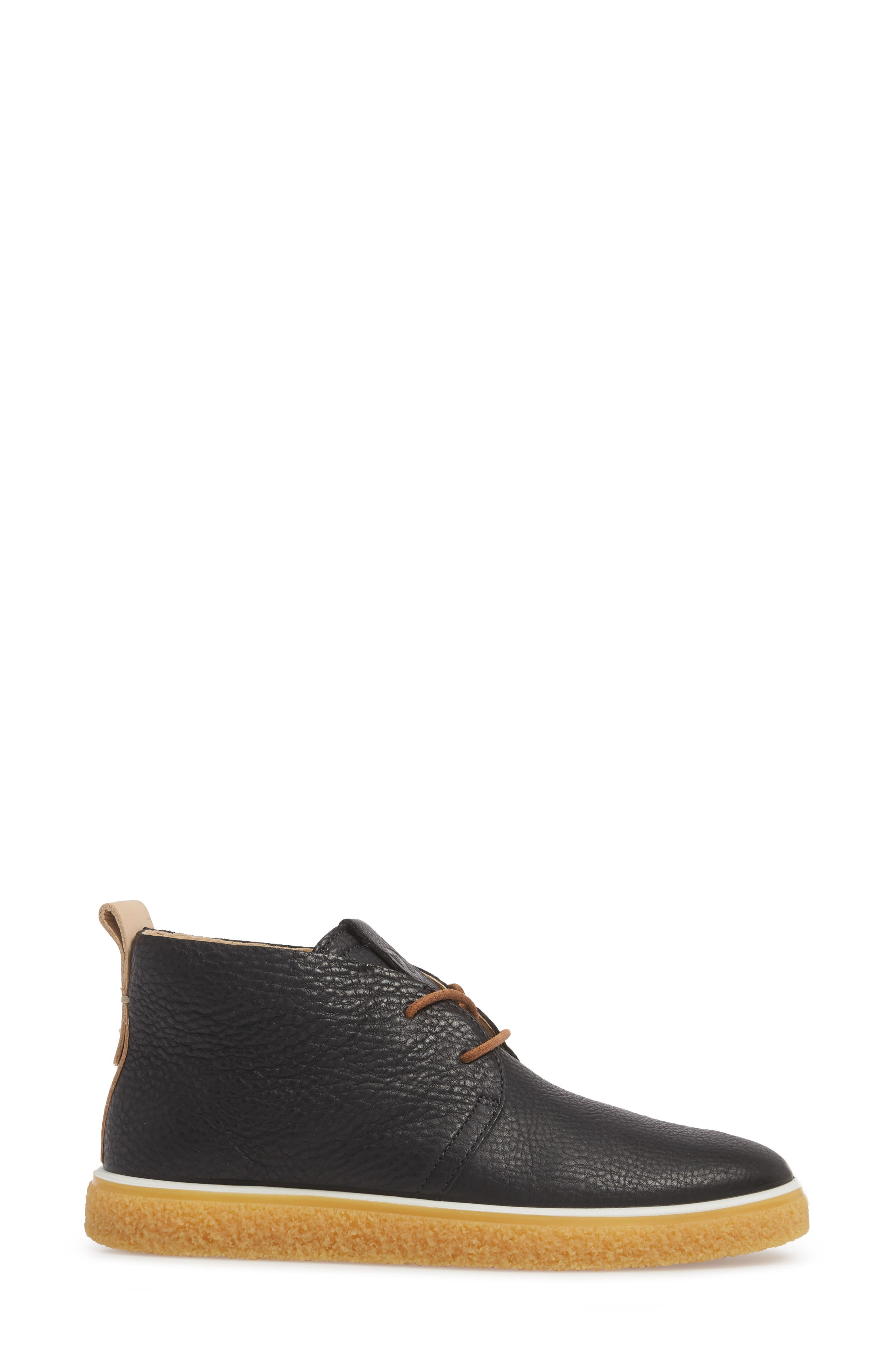 Crepetray Chukka Boot,                             Alternate thumbnail 3, color,                             BLACK POWDER LEATHER