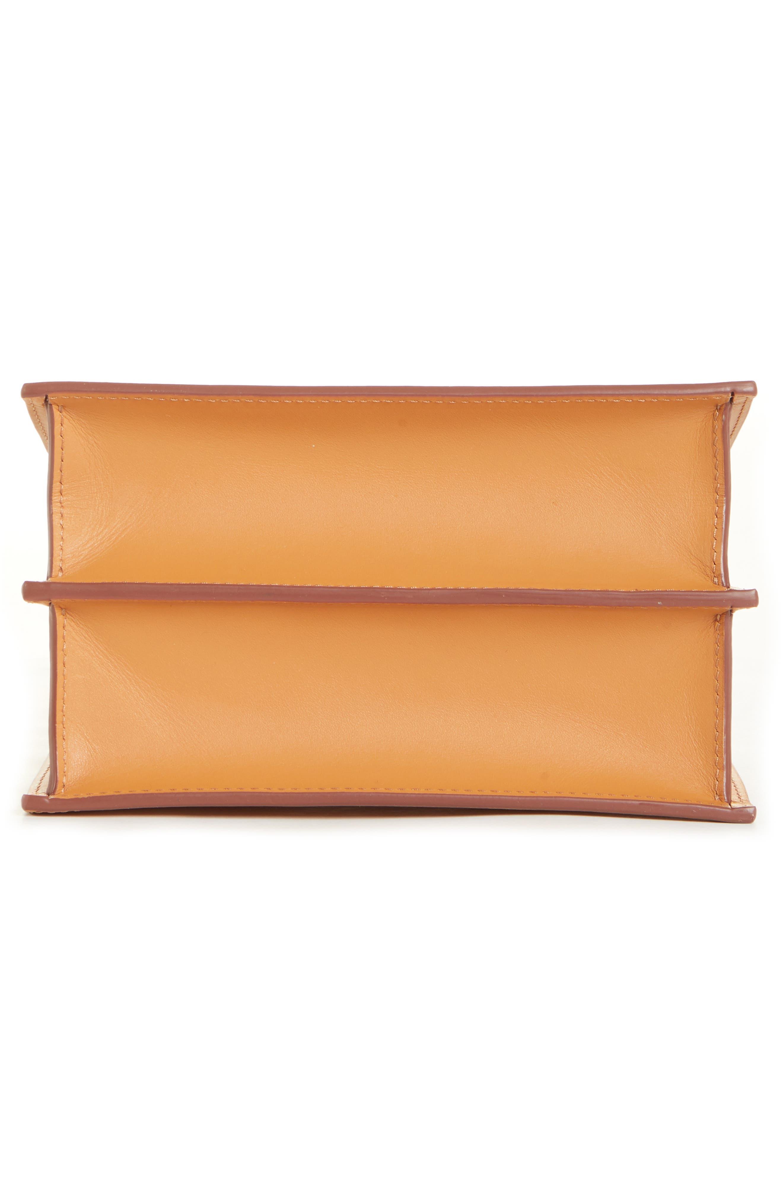 DANSE LENTE,                             Mini Phoebe Leather Bag,                             Alternate thumbnail 6, color,                             TOFFEE/ MARSHMALLOW