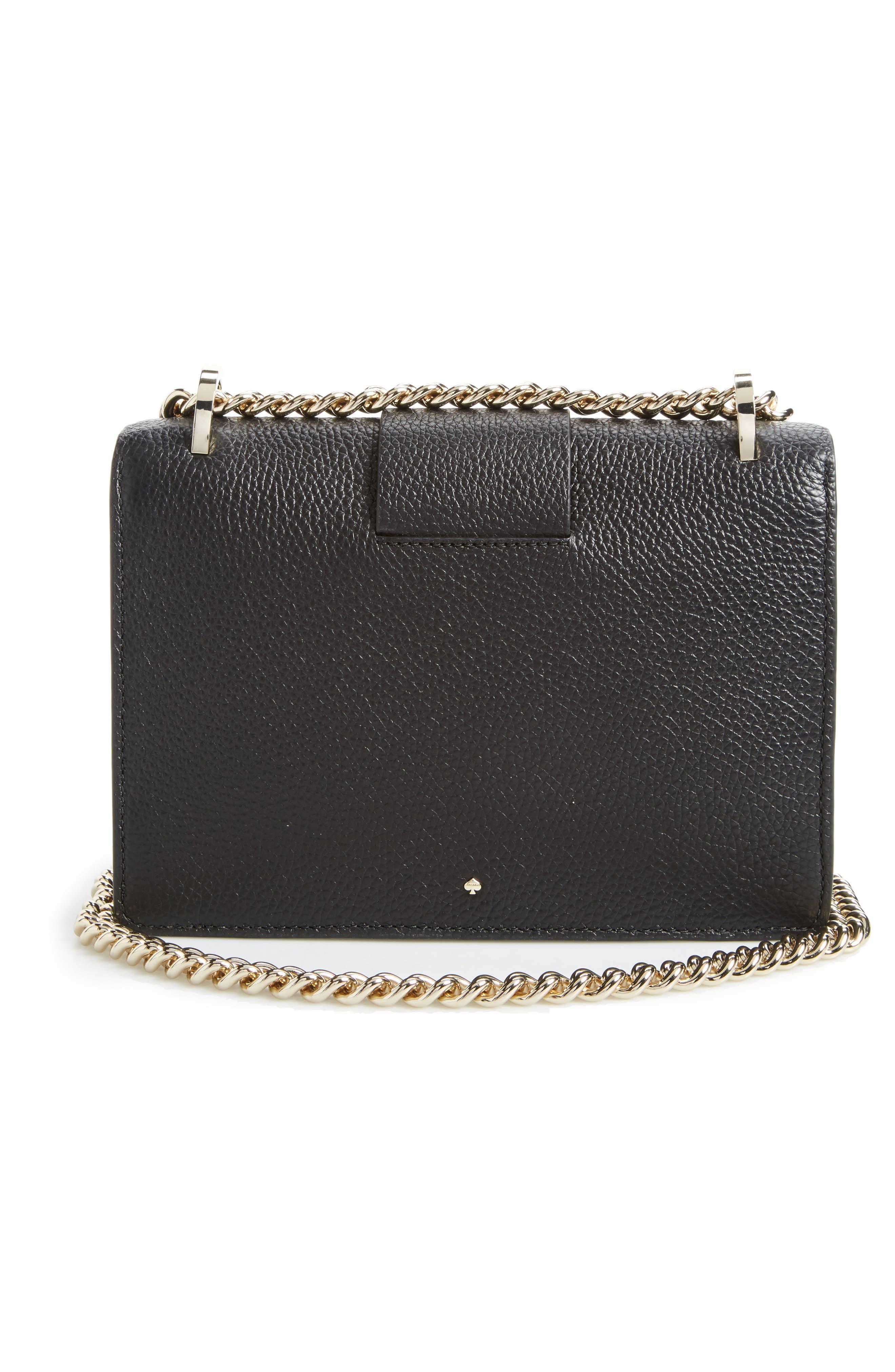 madison knollwood drive - buckle marci leather shoulder bag,                             Alternate thumbnail 3, color,                             001