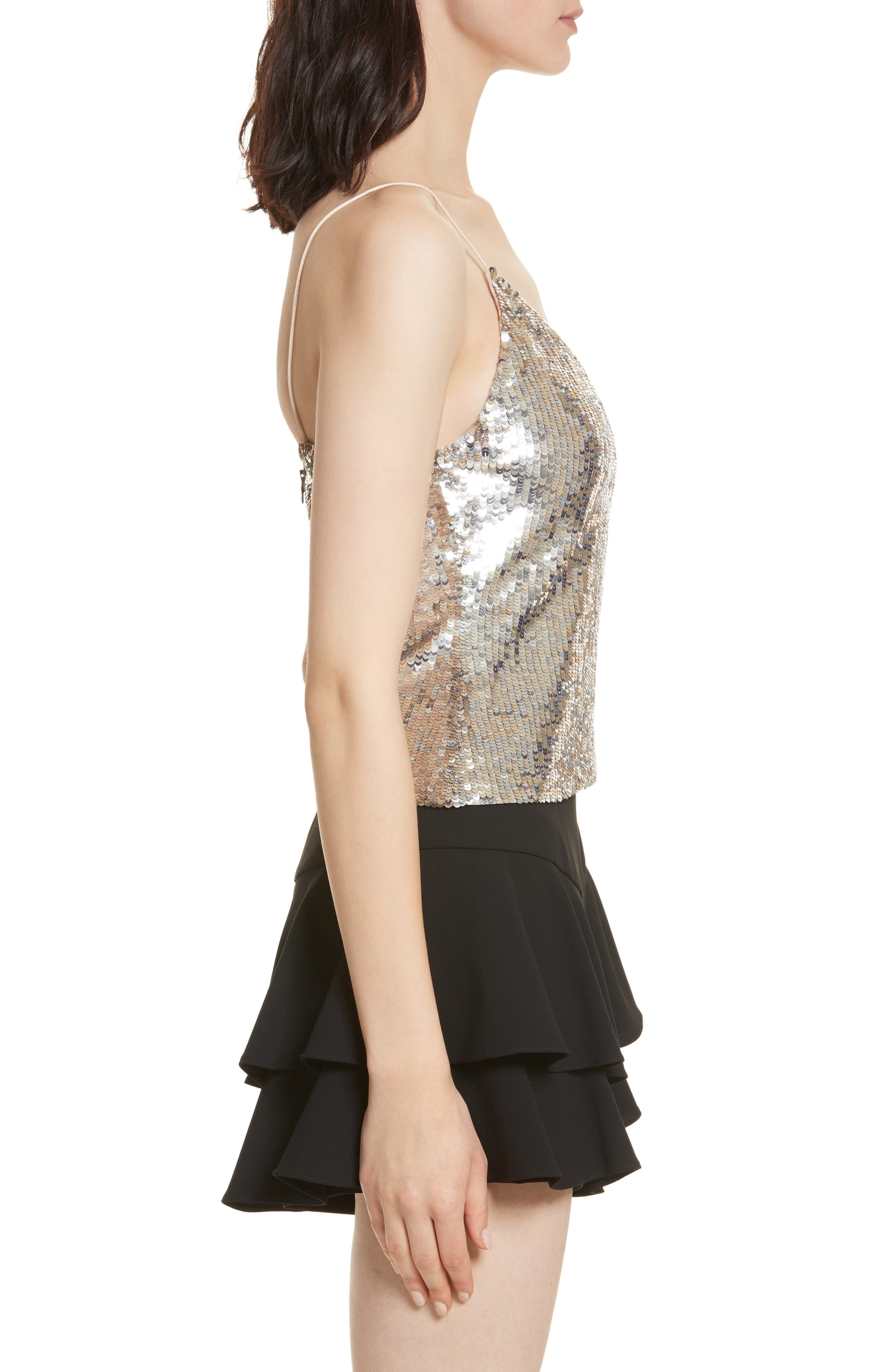 Delray Sequin Embellished Camisole,                             Alternate thumbnail 3, color,                             048