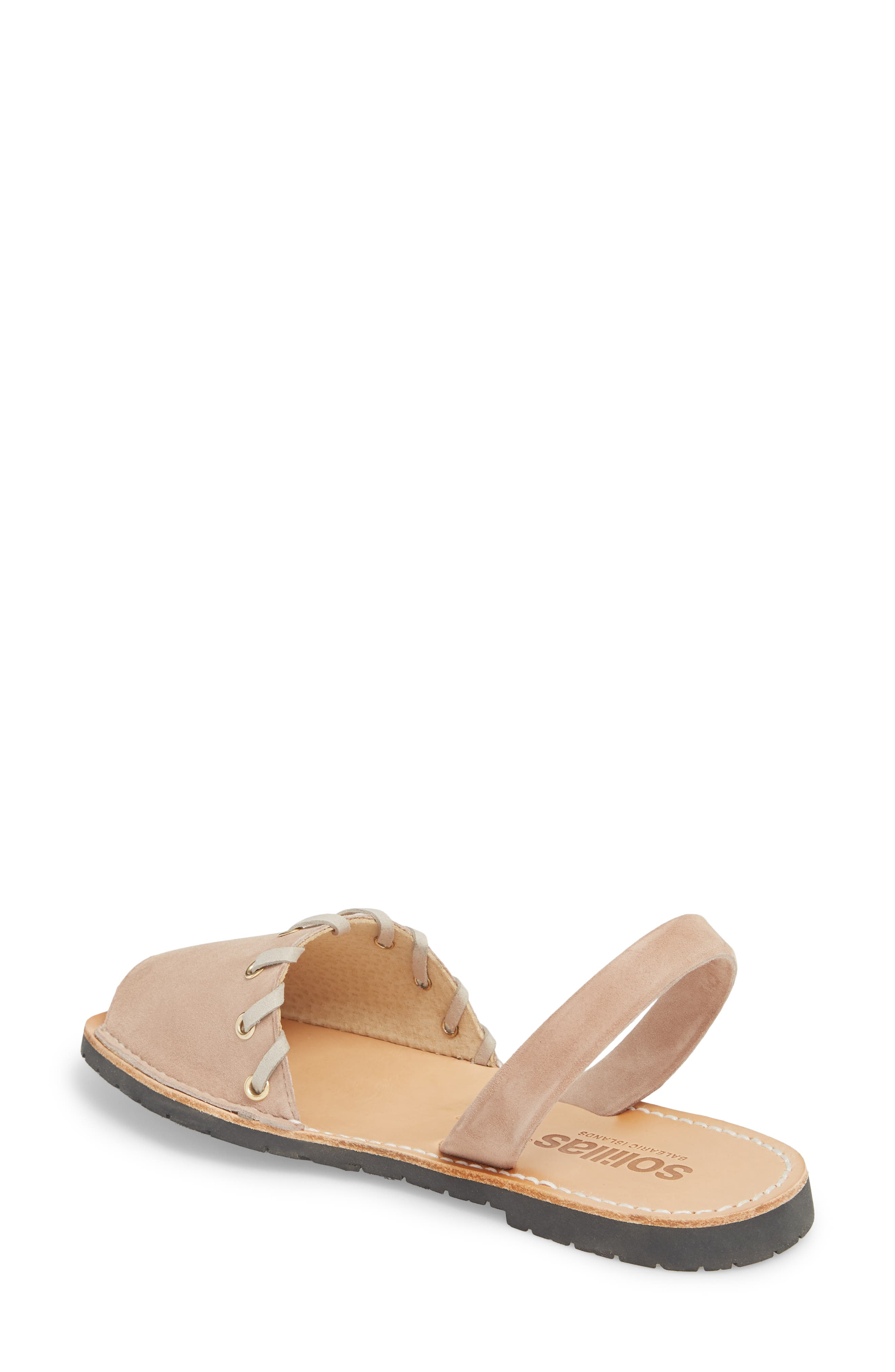 Whipstitched Flat Sandal,                             Alternate thumbnail 3, color,