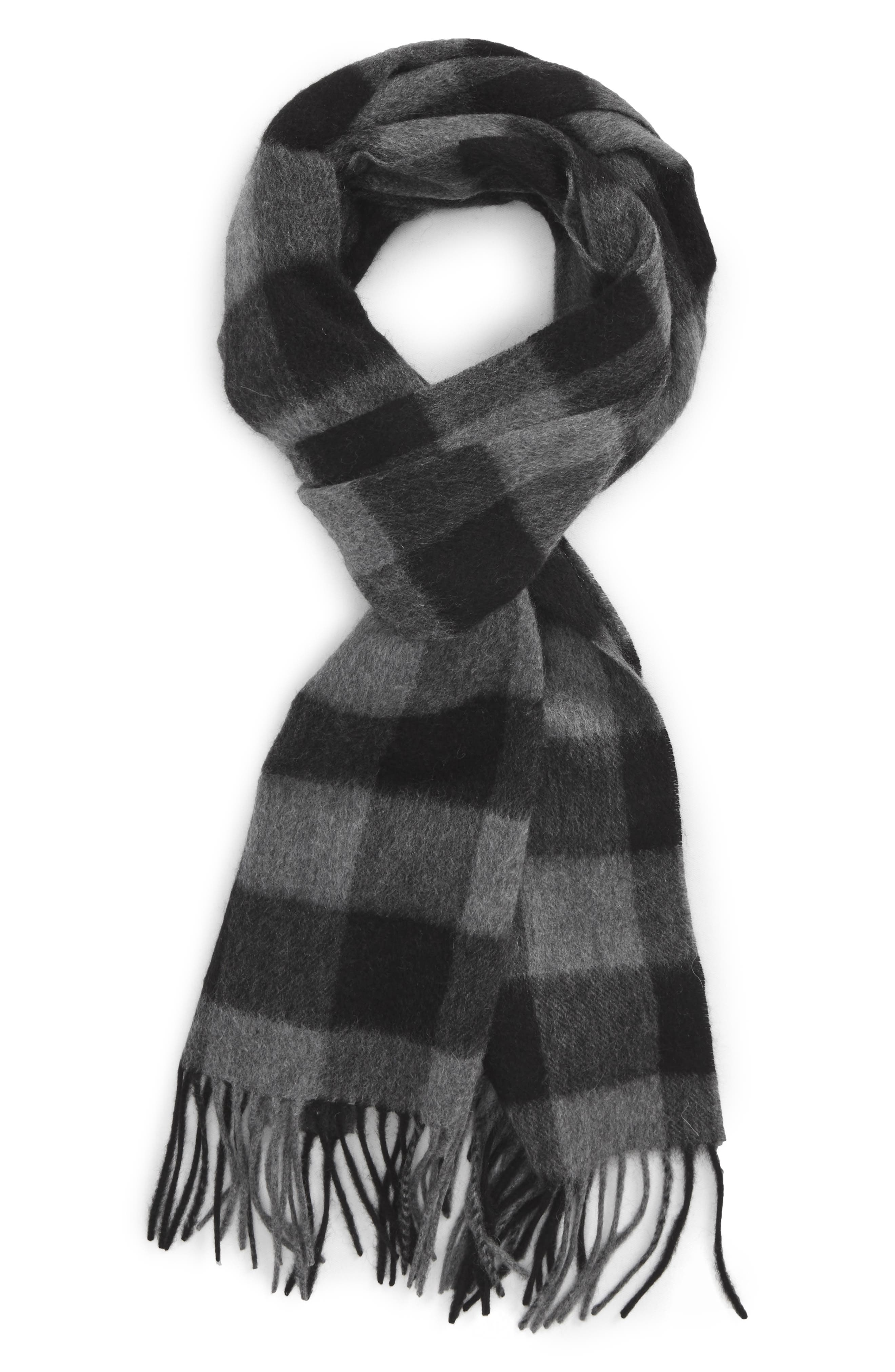 NORDSTROM MEN'S SHOP Check Cashmere Scarf, Main, color, 021
