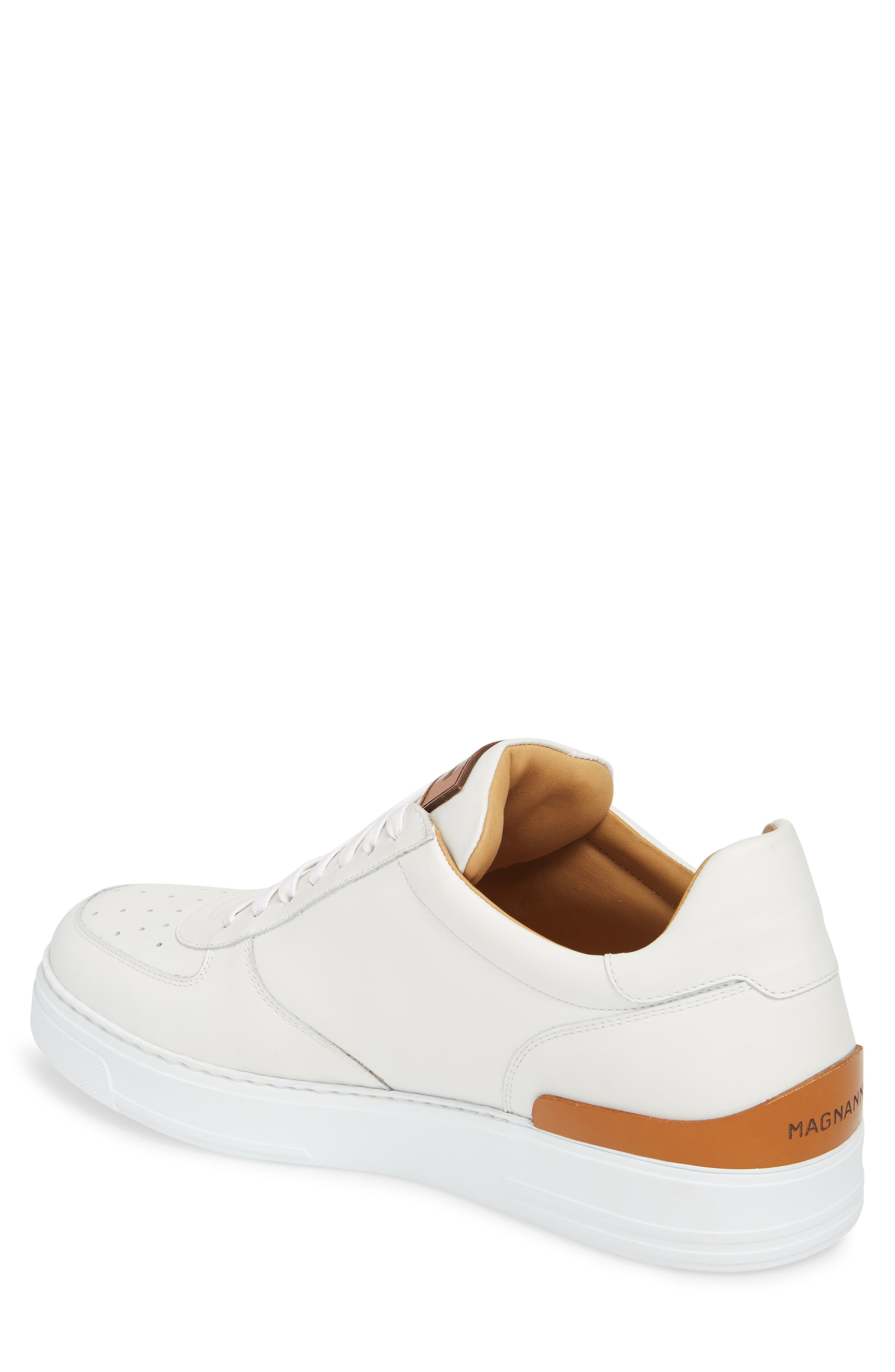 Vada Lo Lace Up Sneaker,                             Alternate thumbnail 2, color,                             WHITE LEATHER