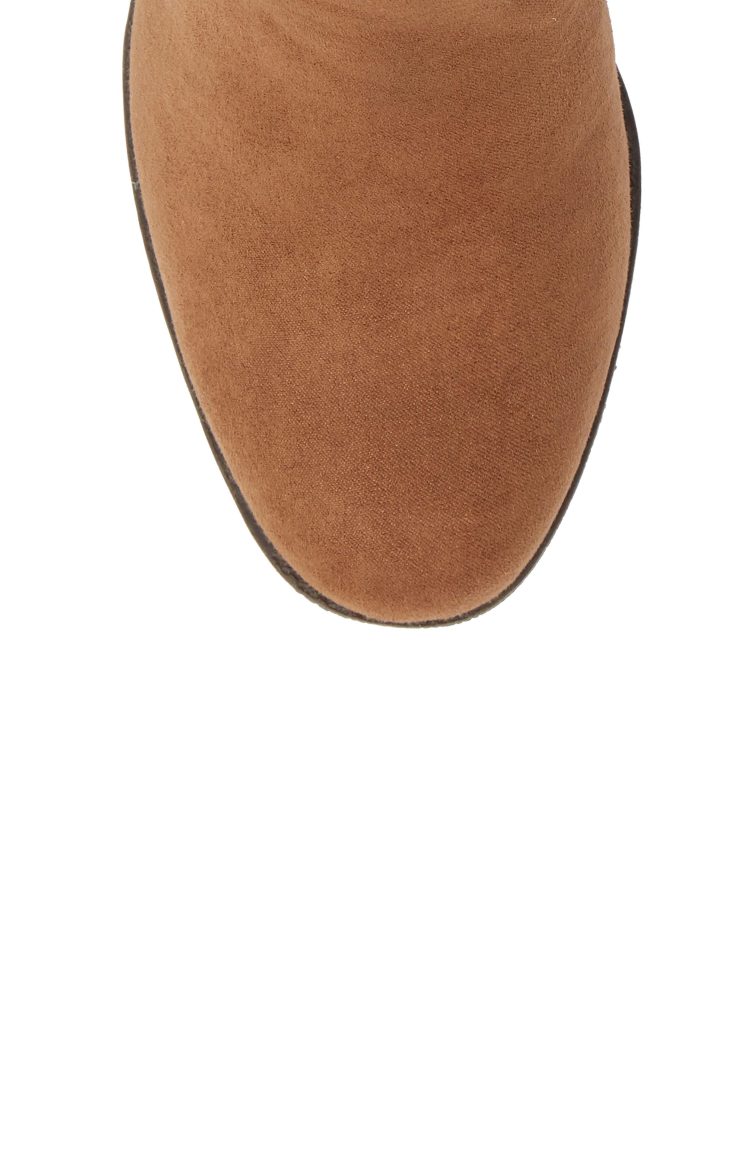 Fawn Desert Studded Boot,                             Alternate thumbnail 5, color,                             CARAMEL