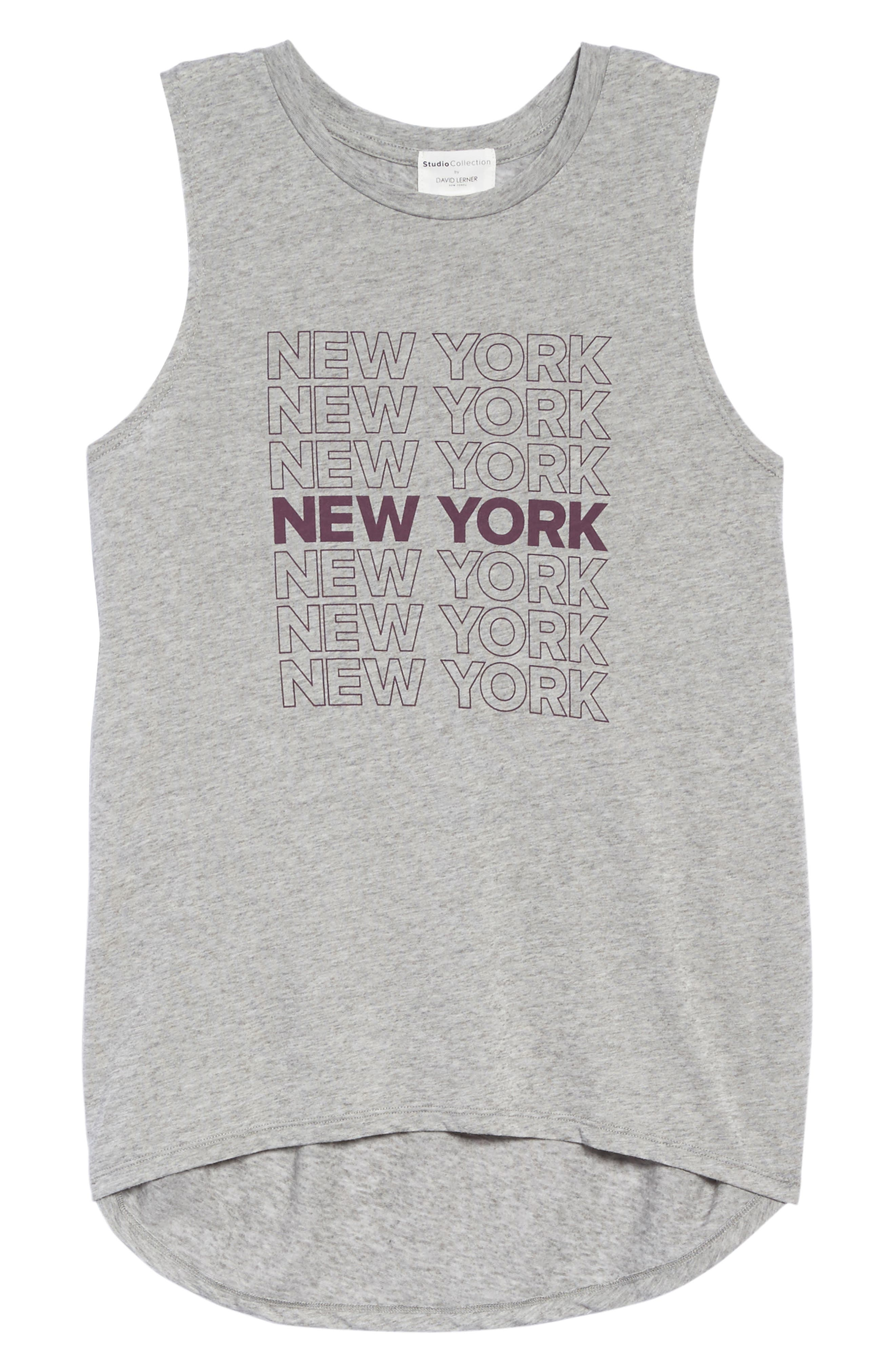New York High/Low Muscle Tank,                             Alternate thumbnail 6, color,