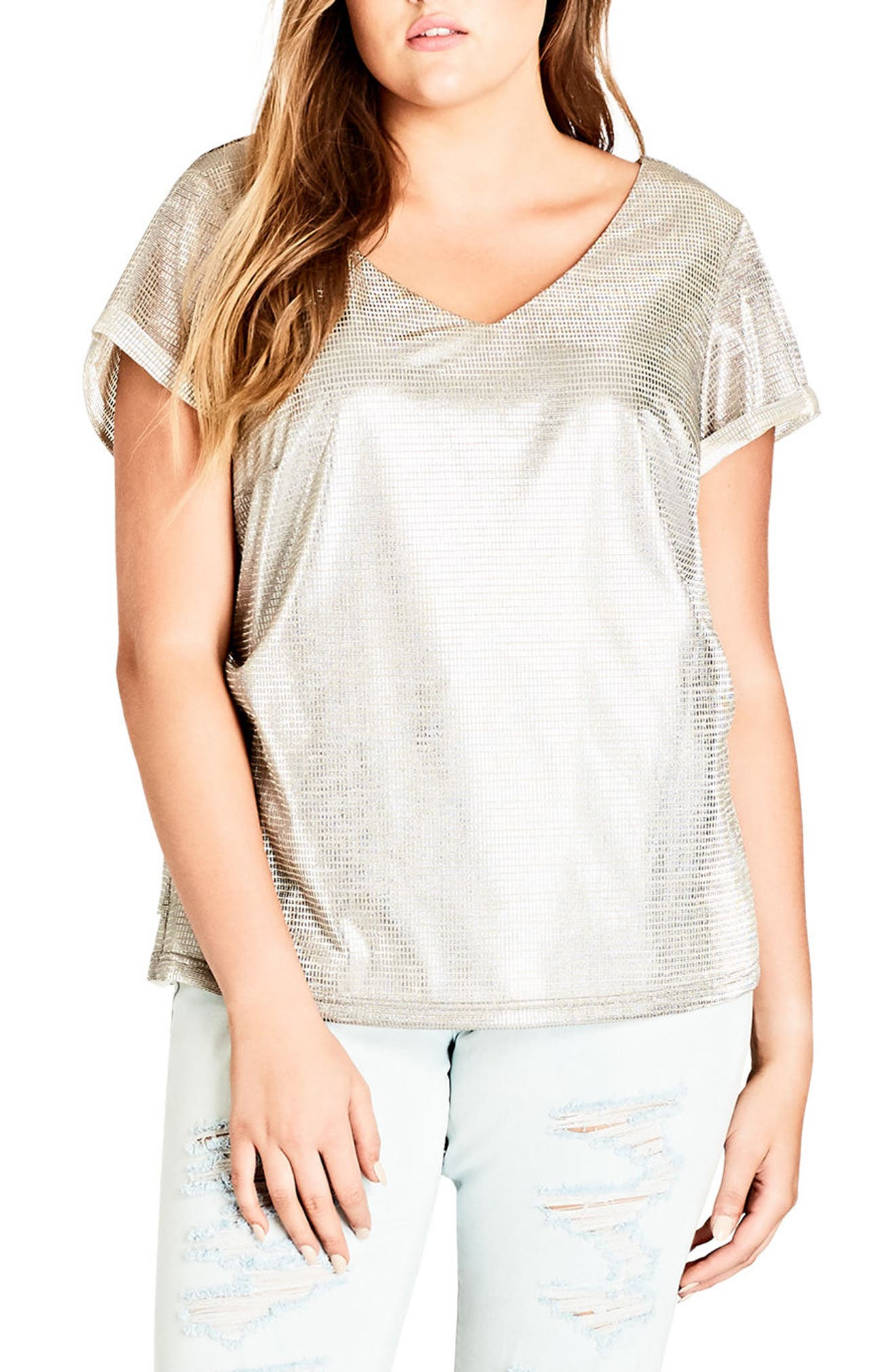 Super Metallic Top,                             Main thumbnail 1, color,