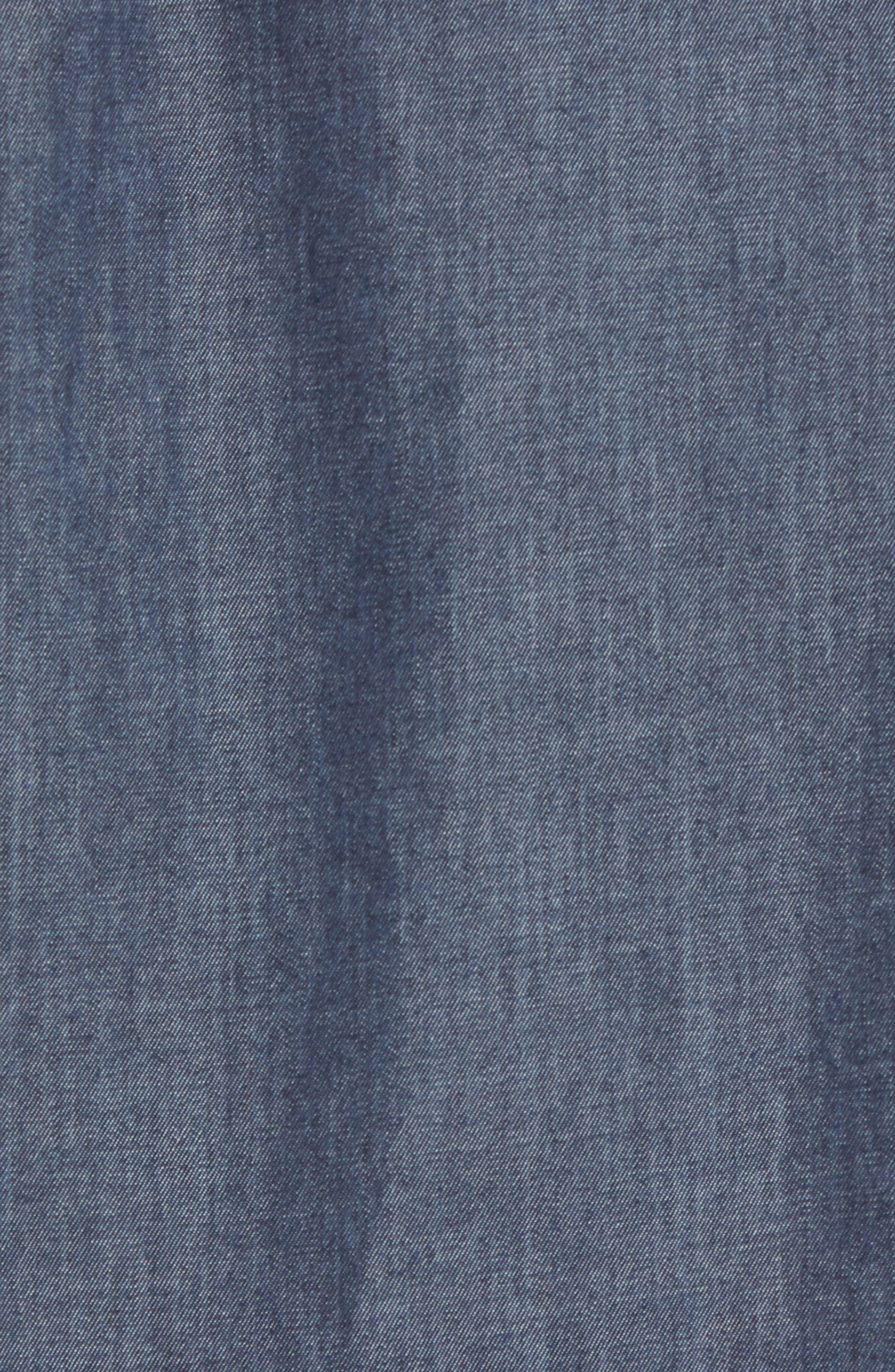 ZACHARY PRELL,                             Manolis Denim Sport Shirt,                             Alternate thumbnail 5, color,                             471