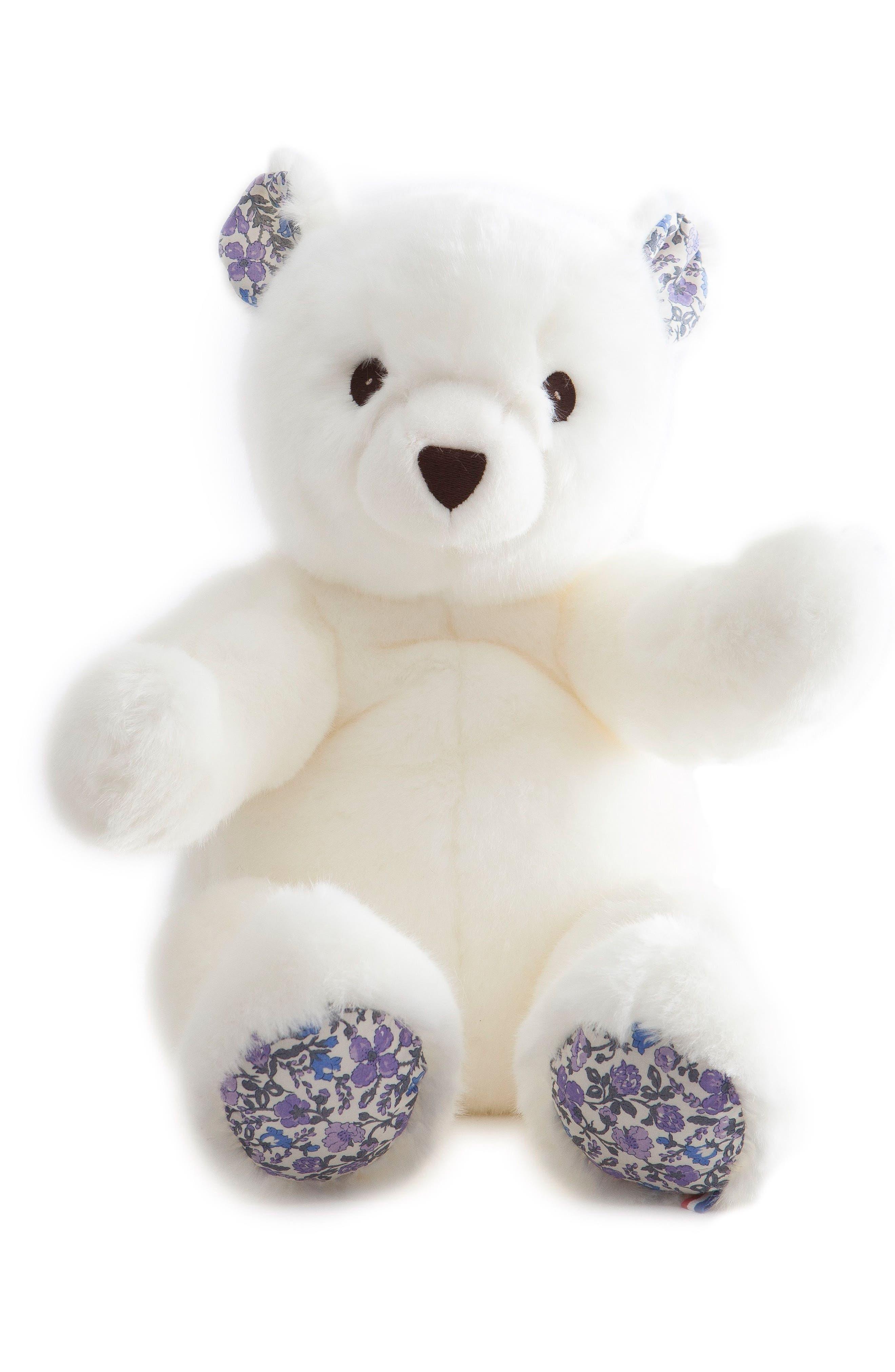 x Liberty of London Robert the Bear Stuffed Animal,                             Main thumbnail 1, color,                             WHITE