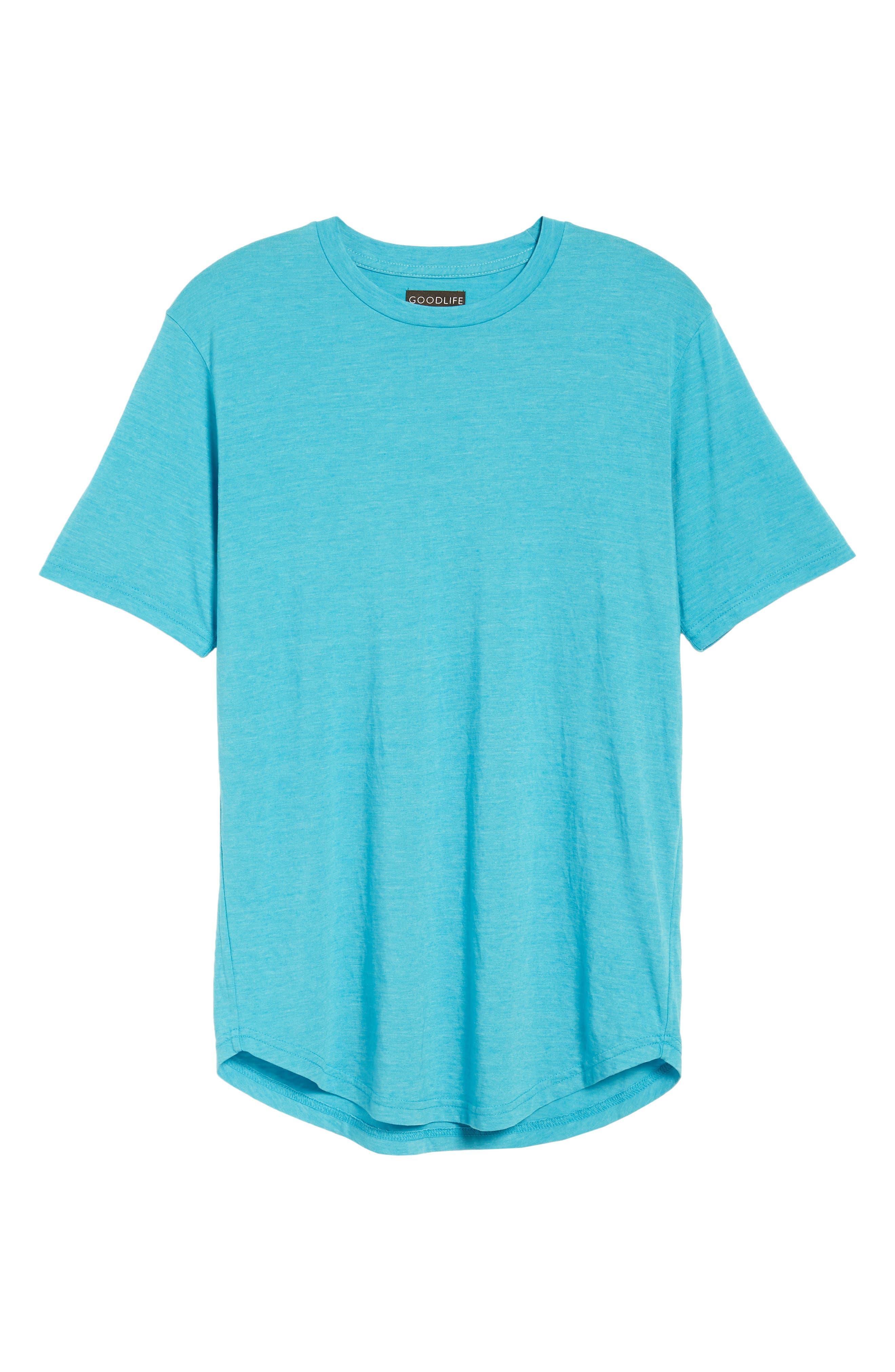 Scallop Triblend Crewneck T-Shirt,                             Alternate thumbnail 124, color,