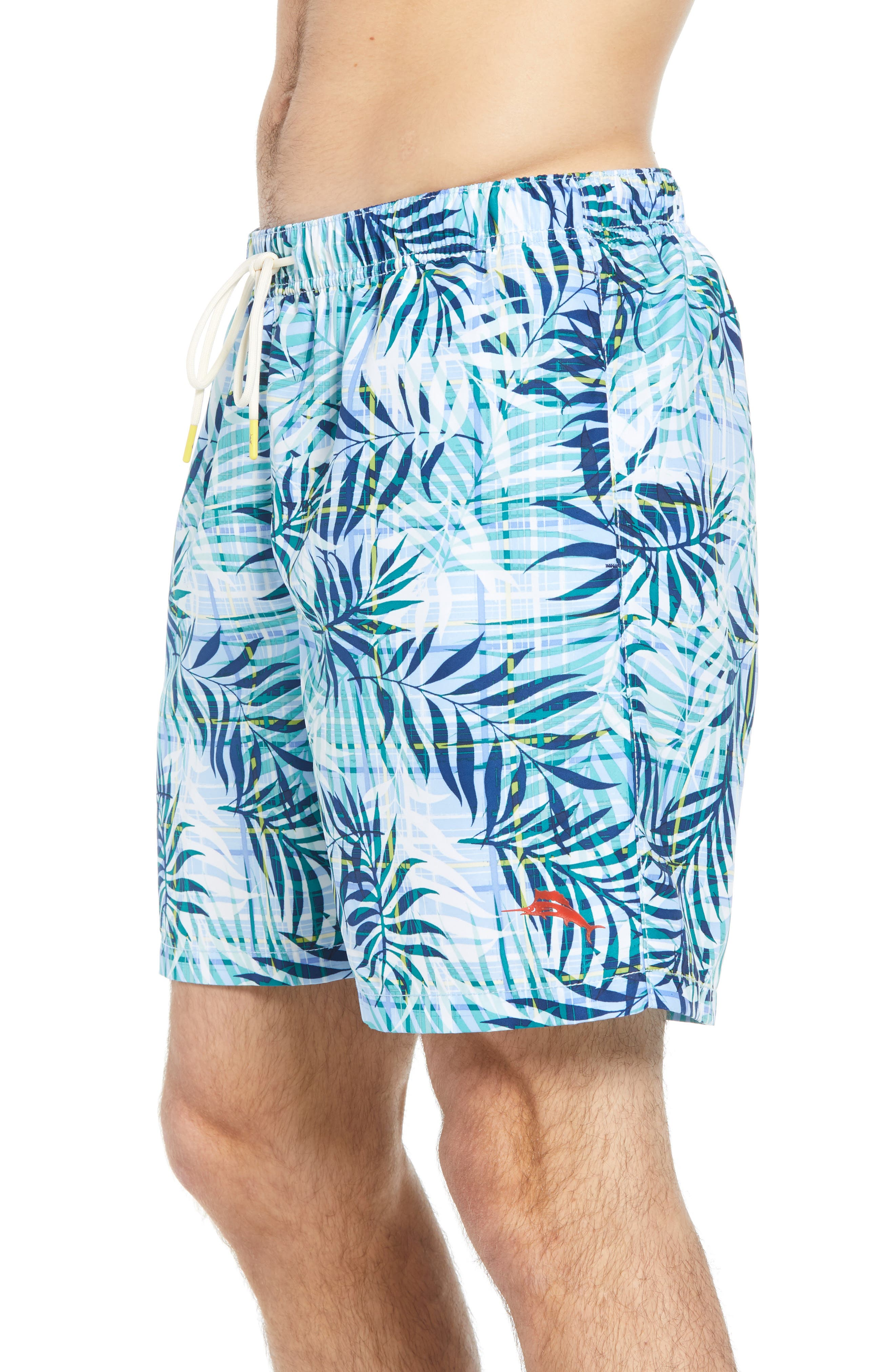 Naples Terraba Swim Trunks,                             Alternate thumbnail 3, color,                             AQUA ICE