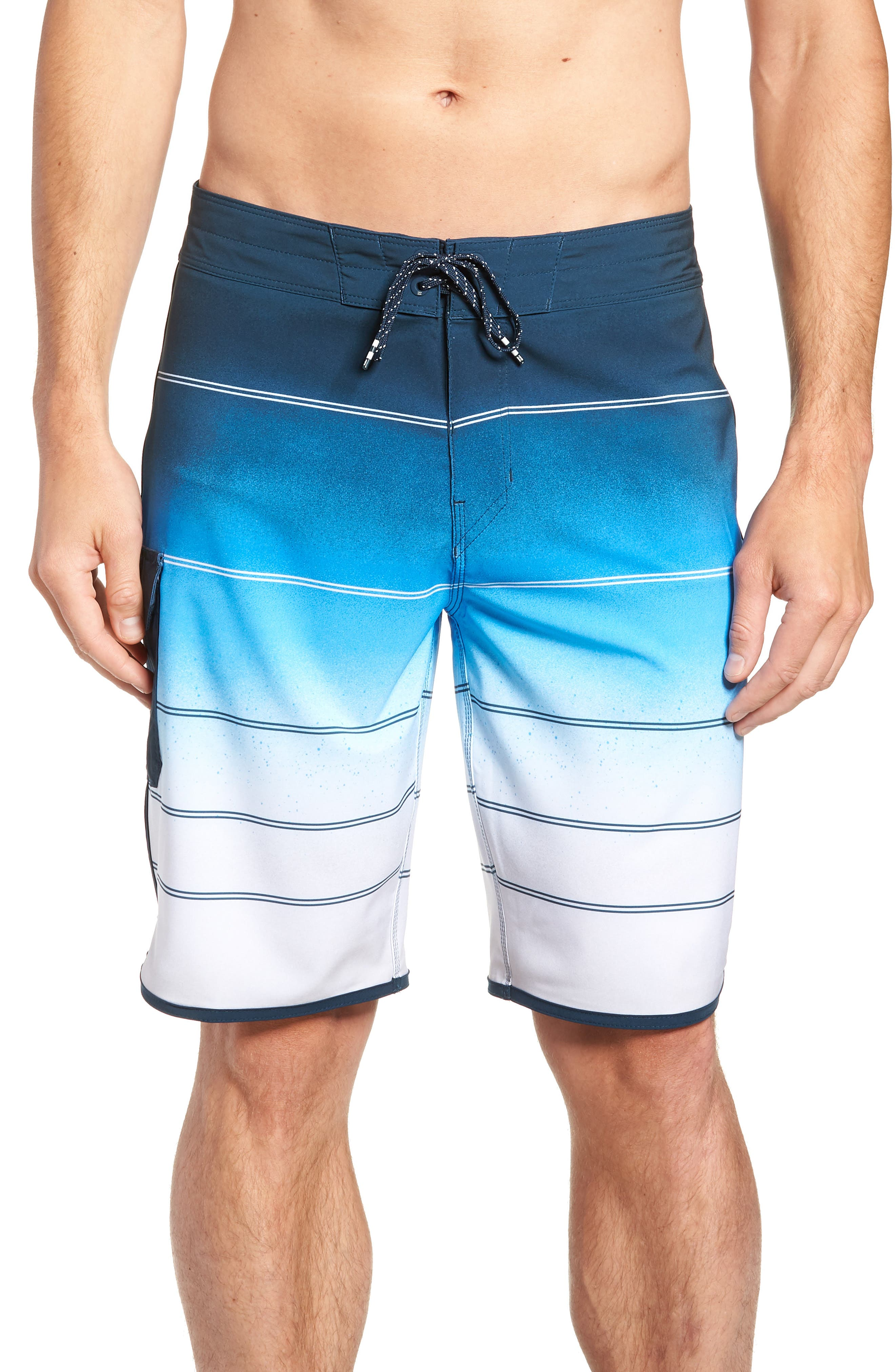 73 X Stripe Board Shorts,                             Main thumbnail 1, color,                             428