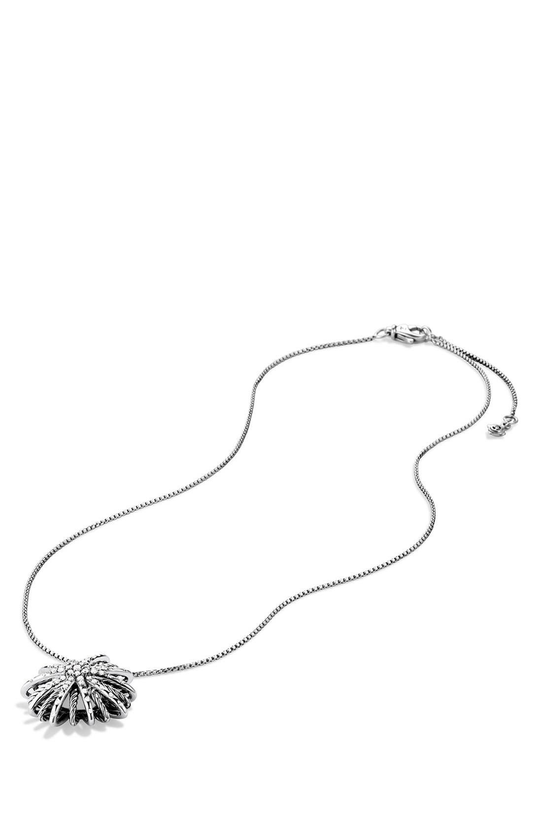 'Starburst' Medium Pendant with Diamonds on Chain,                             Alternate thumbnail 7, color,                             DIAMOND