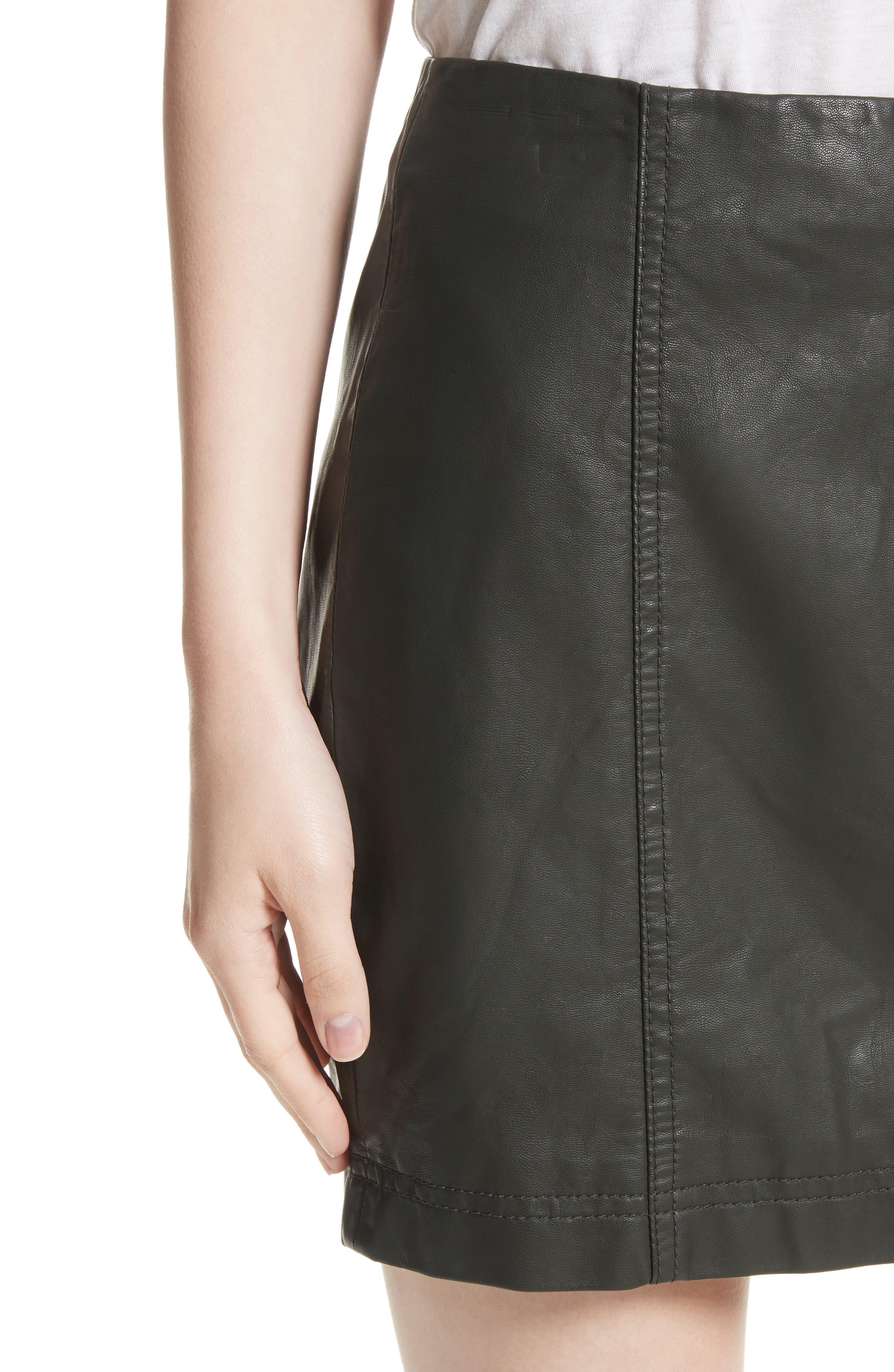 Modern Femme Faux Leather Miniskirt,                             Alternate thumbnail 4, color,                             300