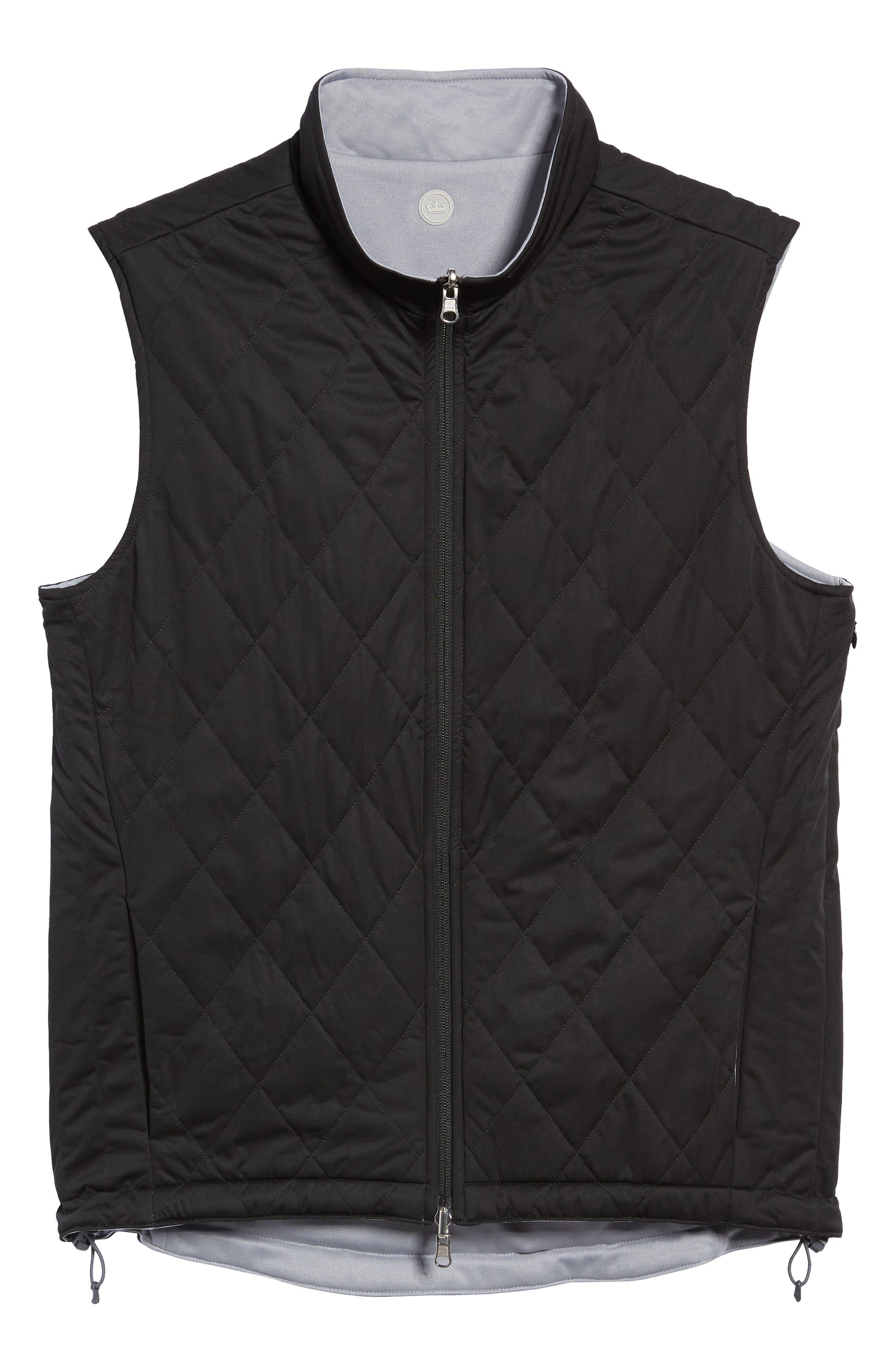Deuce Regular Fit Reversible Quilted Vest,                             Alternate thumbnail 7, color,                             001