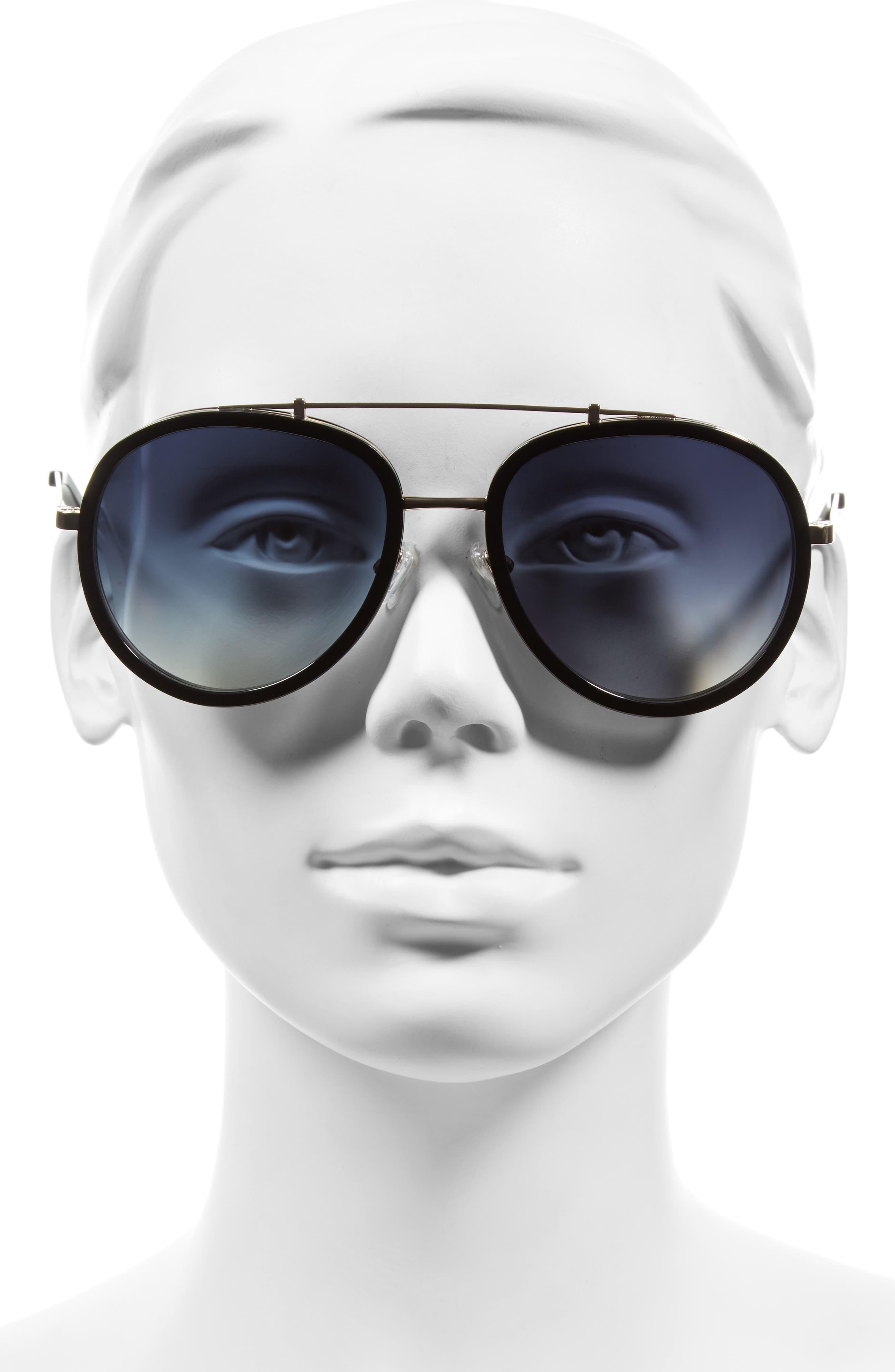 Jules 58mm Aviator Sunglasses,                             Alternate thumbnail 6, color,