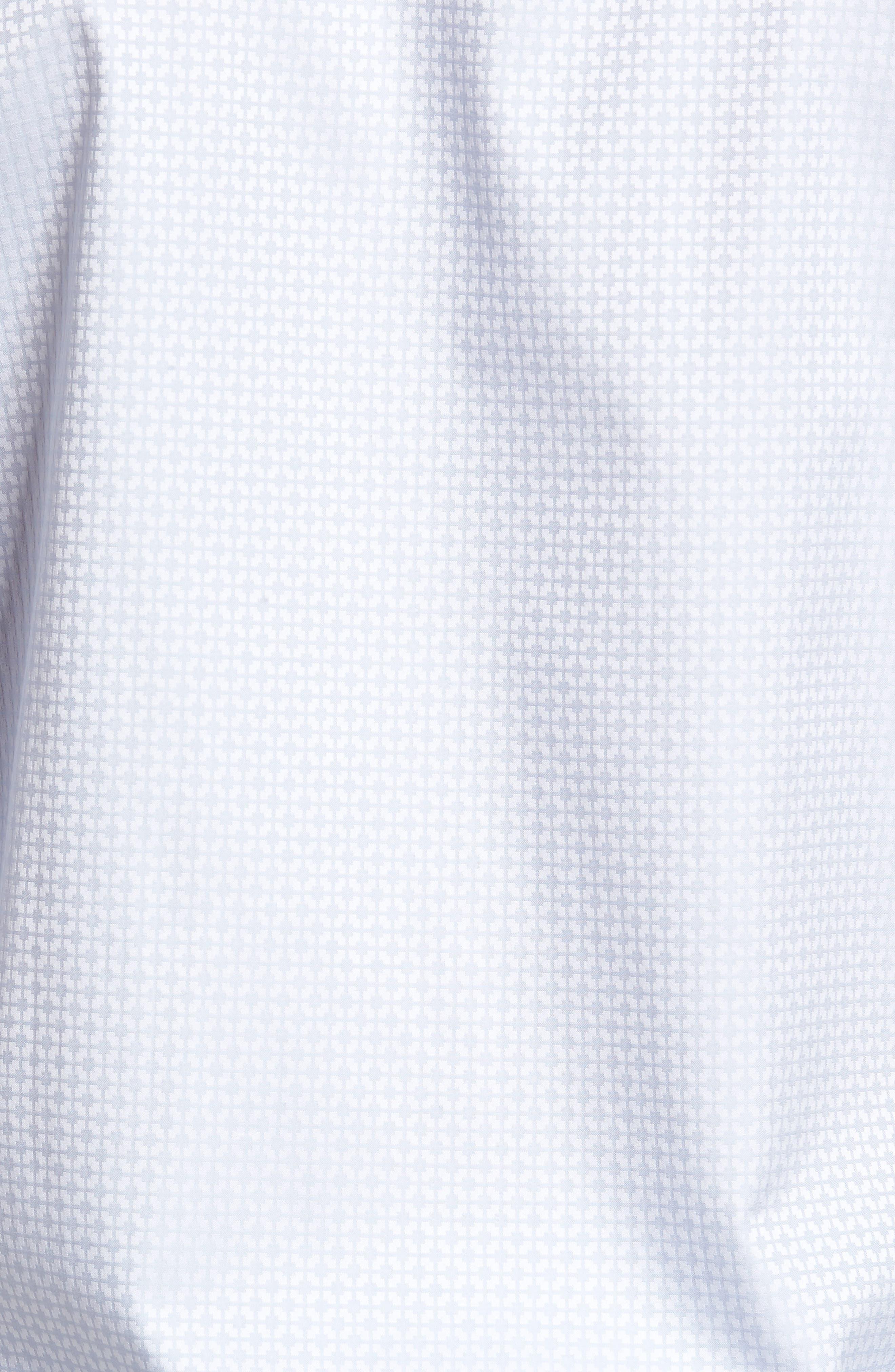 Shaped Fit Grid Sport Shirt,                             Alternate thumbnail 5, color,                             028