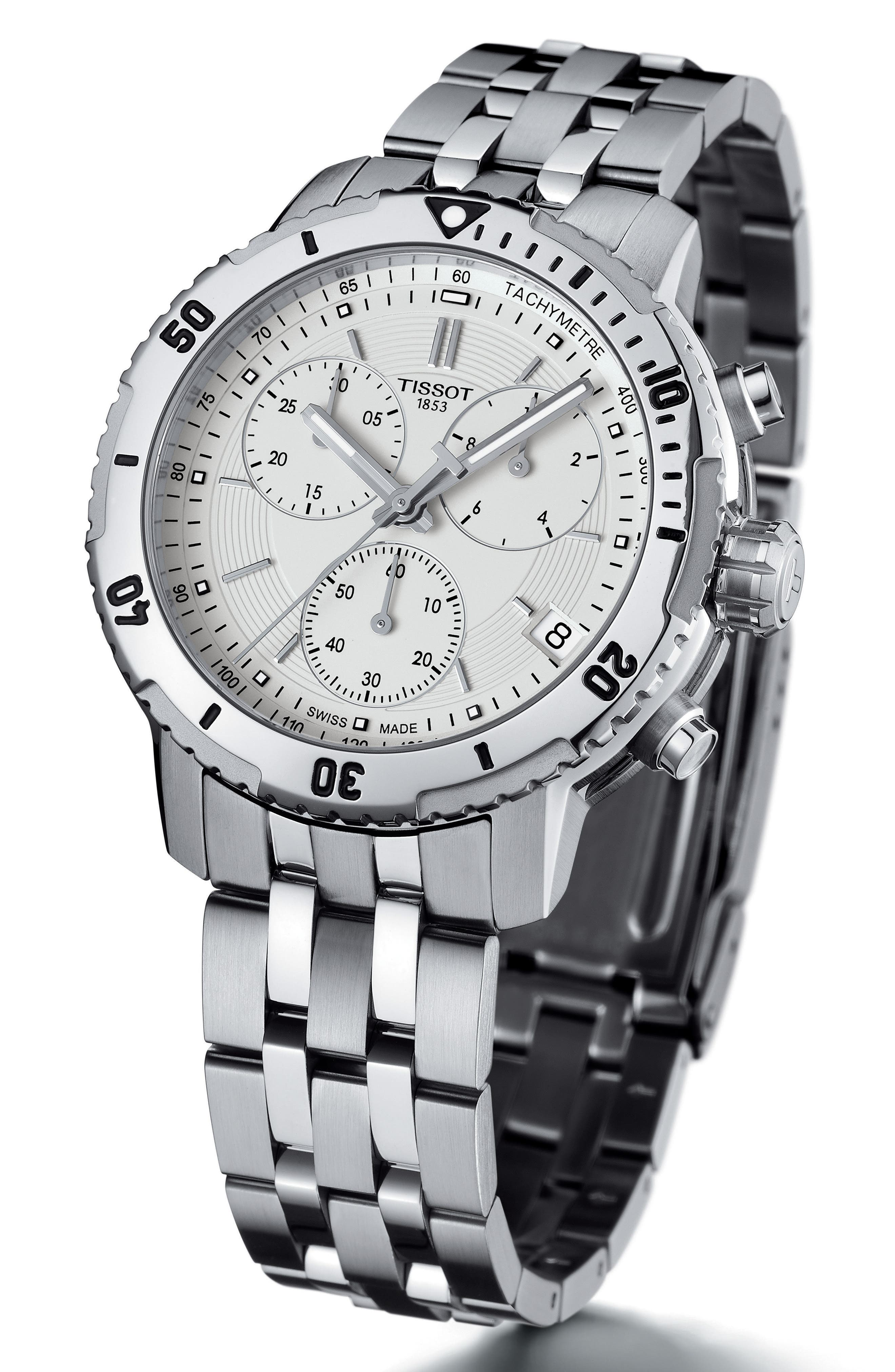 PRS200 Chronograph Bracelet Watch, 41mm,                             Alternate thumbnail 2, color,                             SILVER