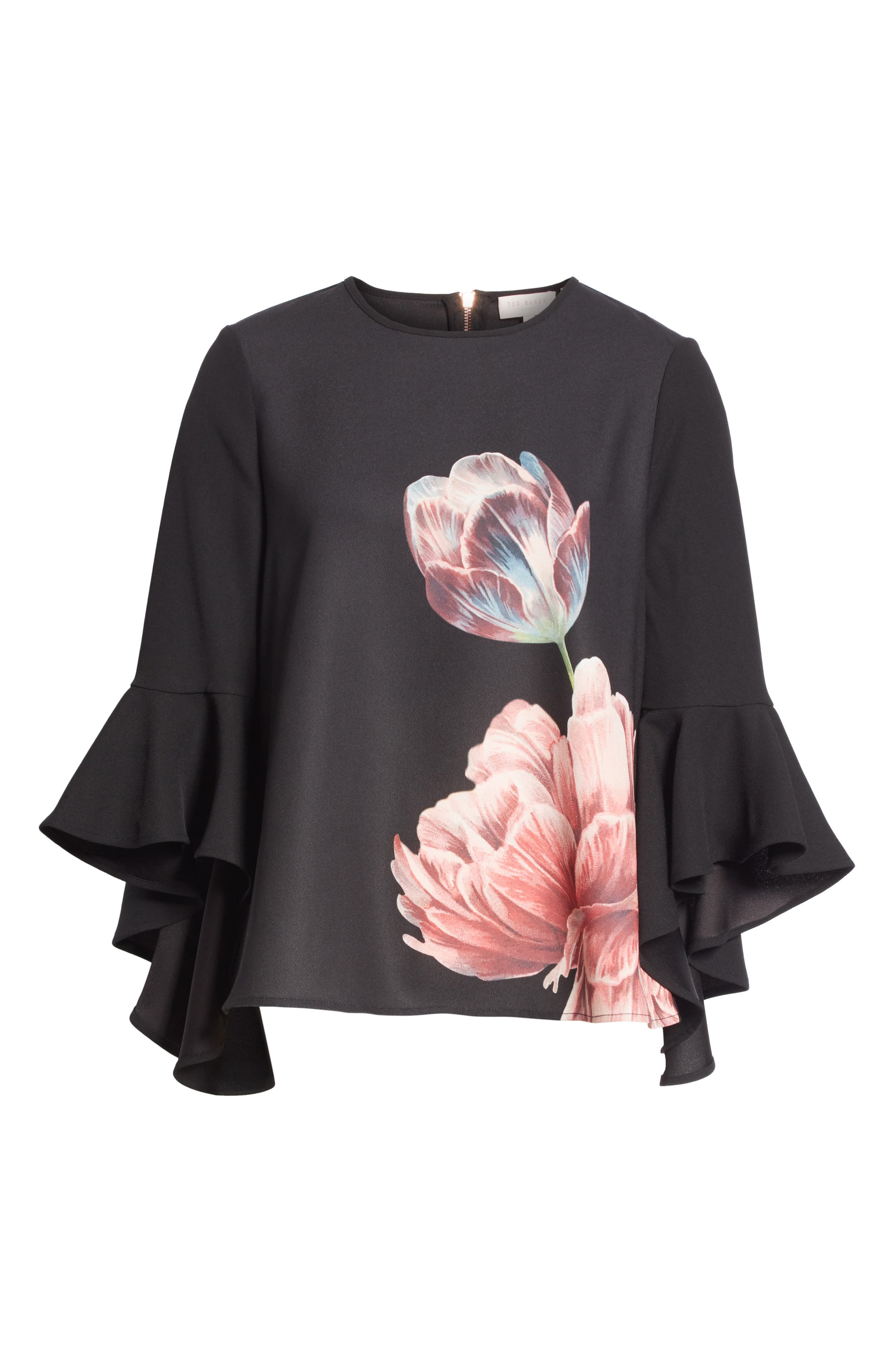TED BAKER LONDON,                             Suuzan Tranquility Waterfall Top,                             Alternate thumbnail 6, color,                             001