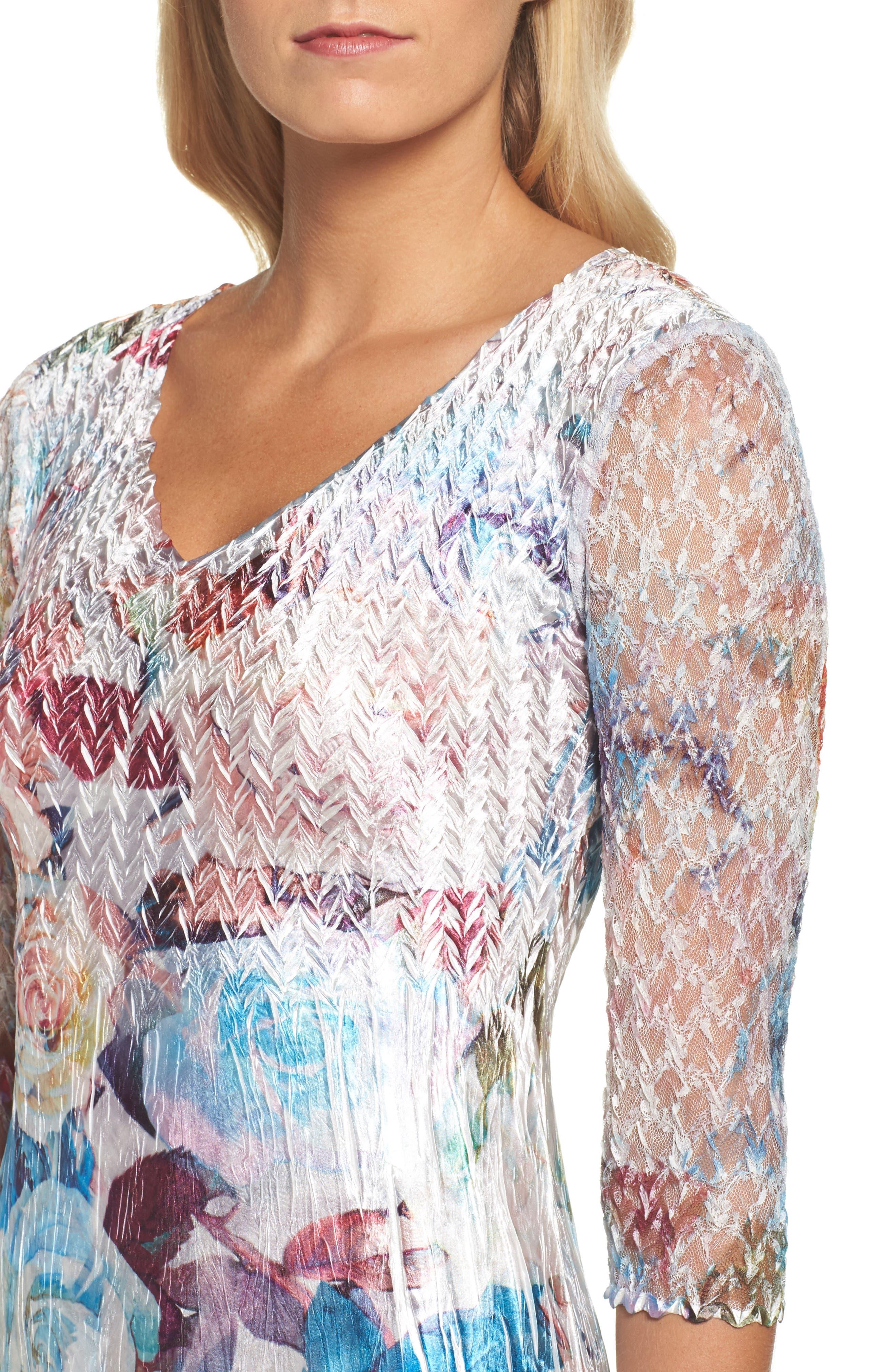 A-Line Dress,                             Alternate thumbnail 4, color,                             460