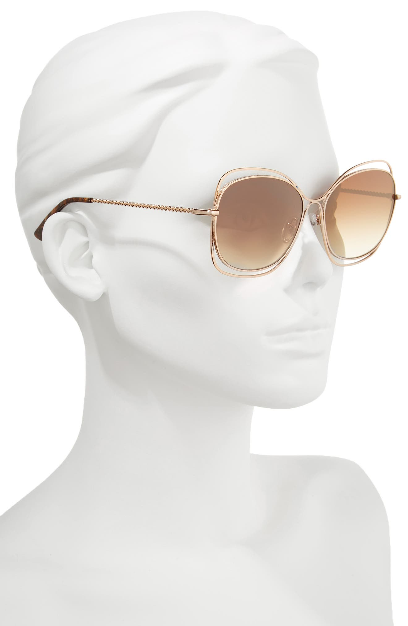 Collins 60mm Butterfly Sunglasses,                             Alternate thumbnail 3, color,