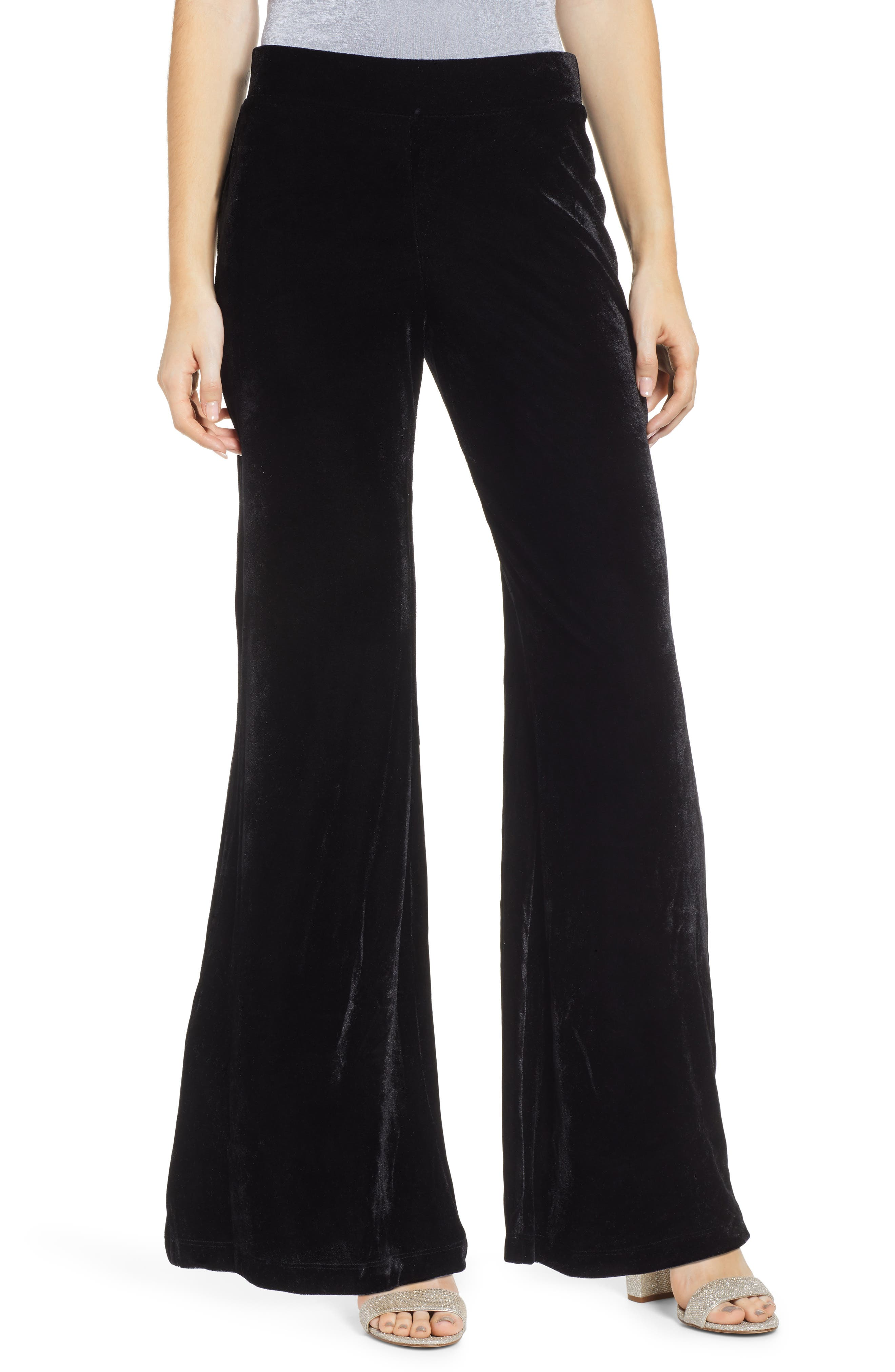 Love, Fire Velvet Flare Pants