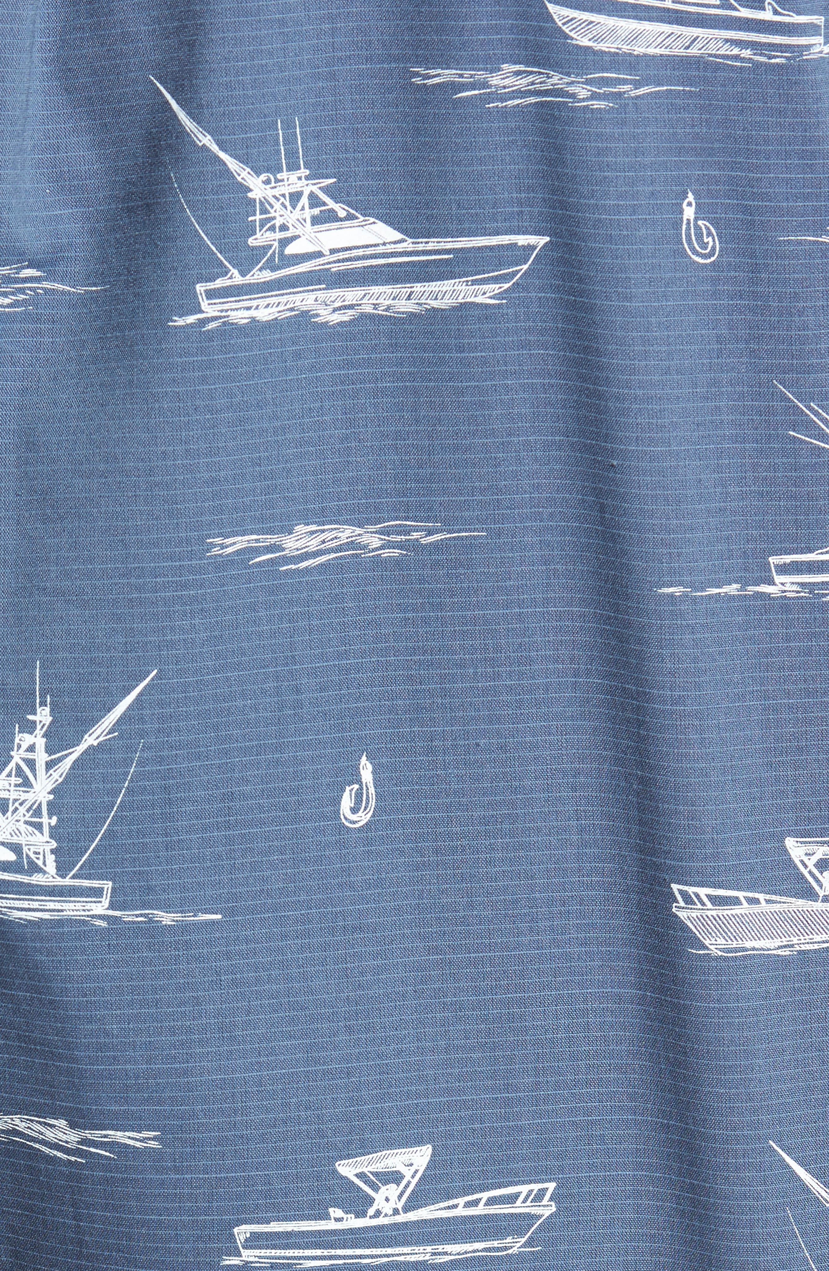 Fishboats Sport Shirt,                             Alternate thumbnail 6, color,